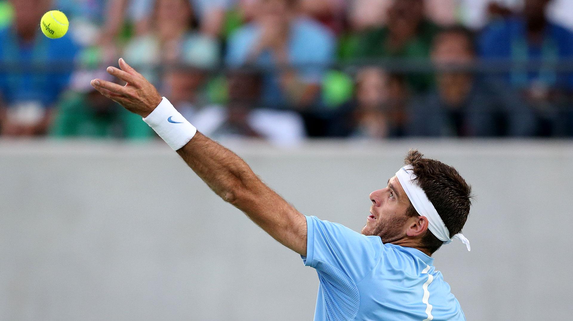 Del Potro en el partido ante Andy Murray (Nicolás Stulberg)