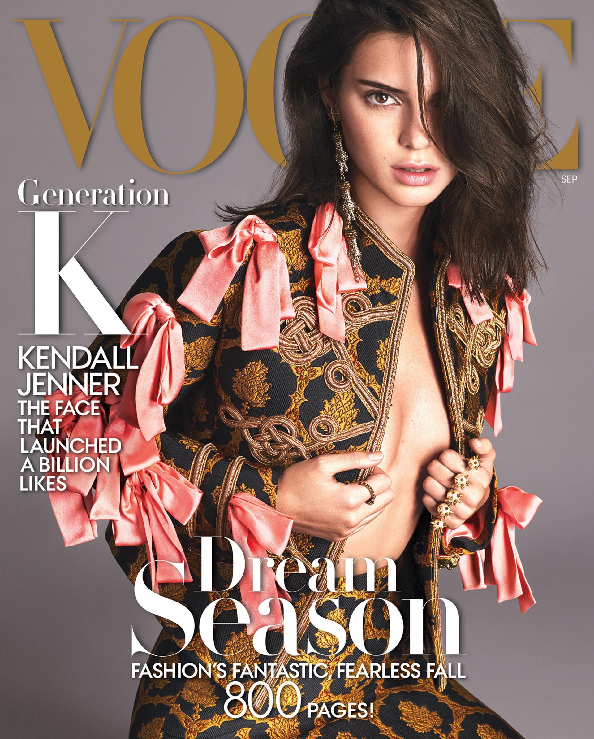 El fenómeno Kardashian también fue parte de la revista: Kendall Jenner marcó la portada de 2016.