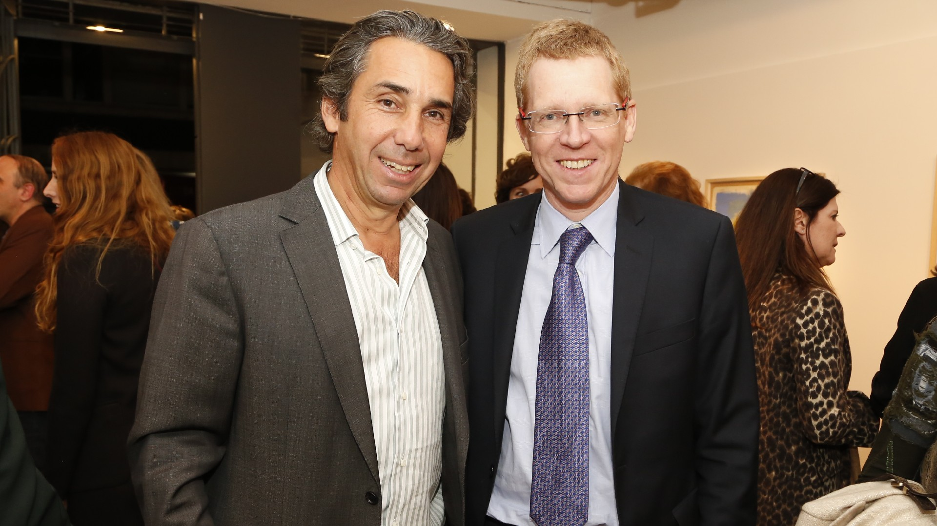 Dicky Smith Estrada y Juan Curutchet, presidente del Banco Provincia
