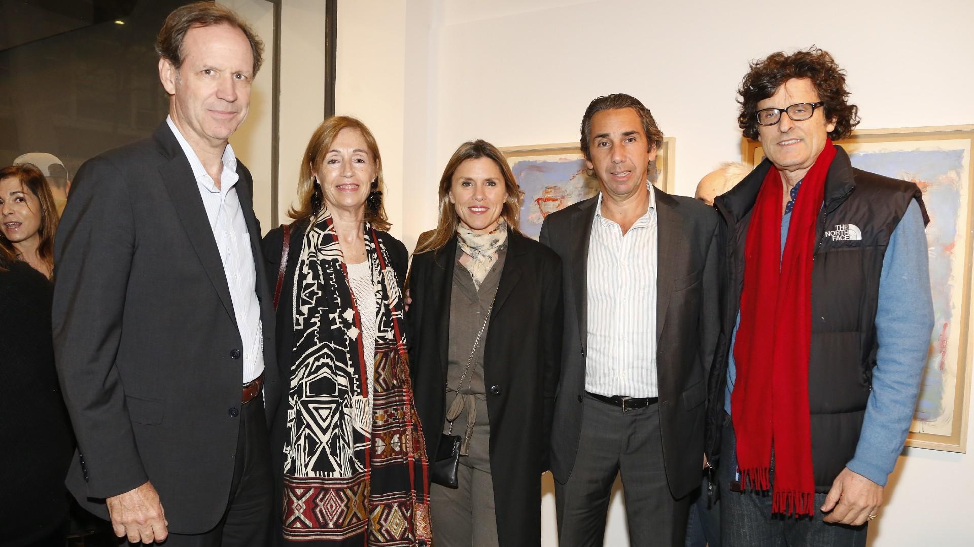 Miguel Blaquier, Felisa Larívière de Blaquier, Gloria y Dicky Smith Estrada, y Franco Martini