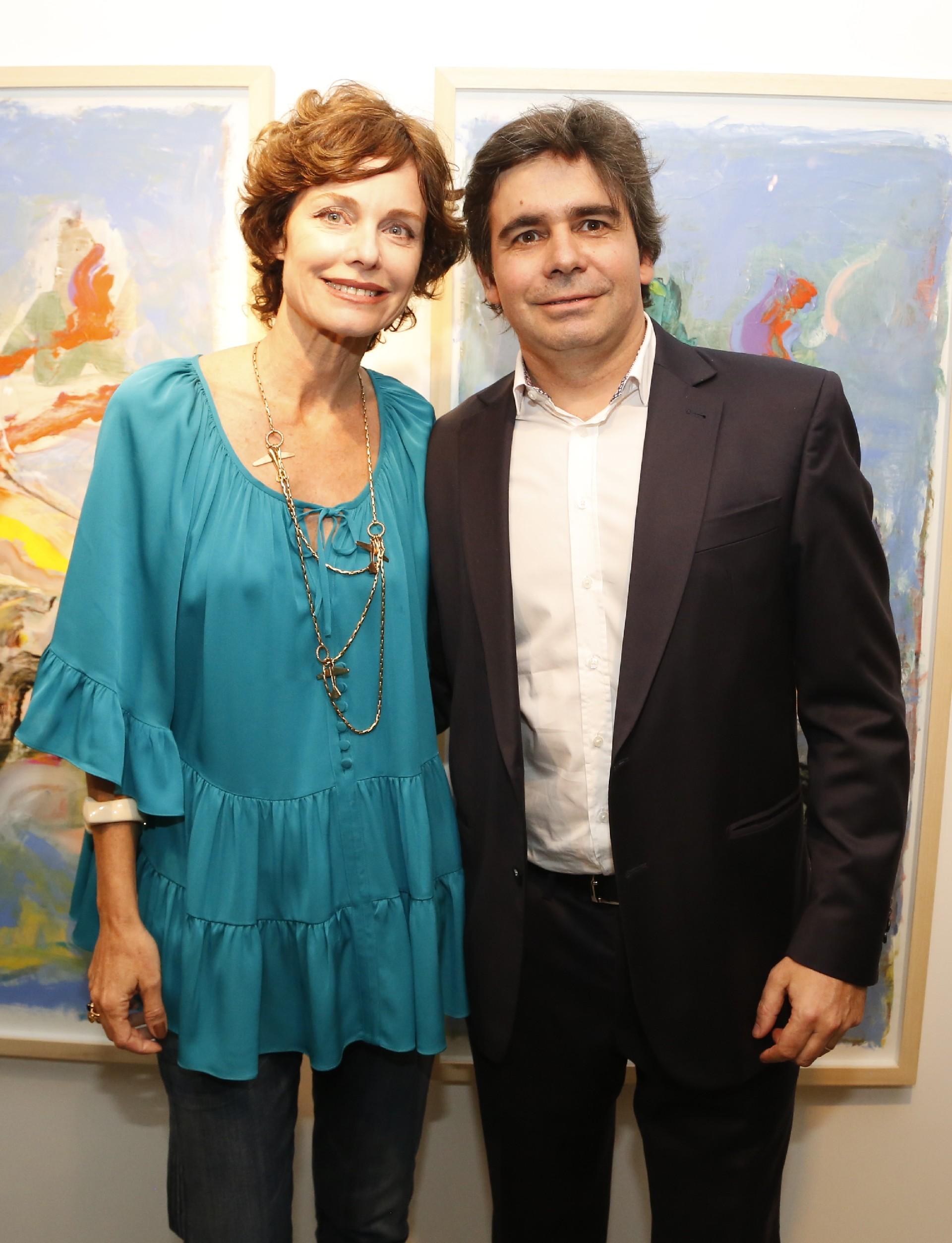 Flavia Martini y Eugenio Ottolenghi, director de Otto Galería