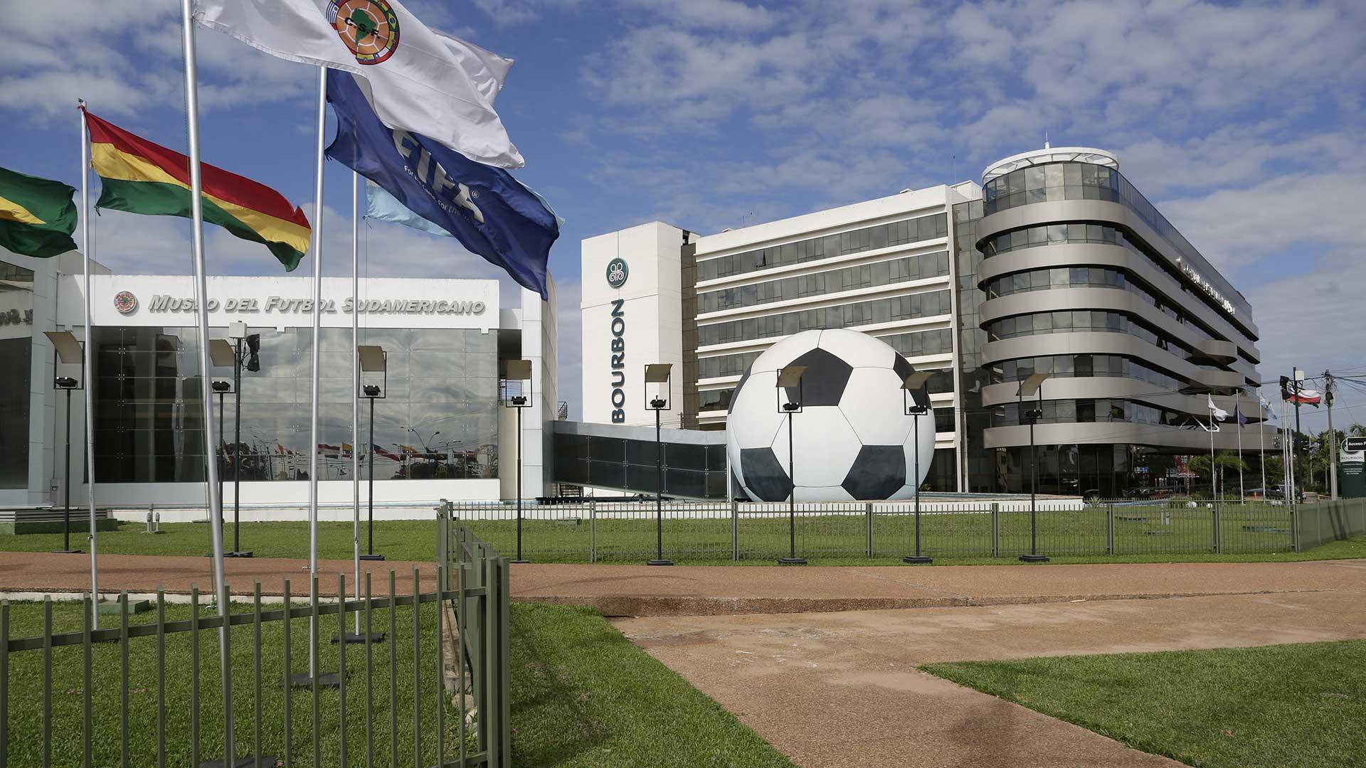 Sede de la Conmebol en Asunción del Paraguay
