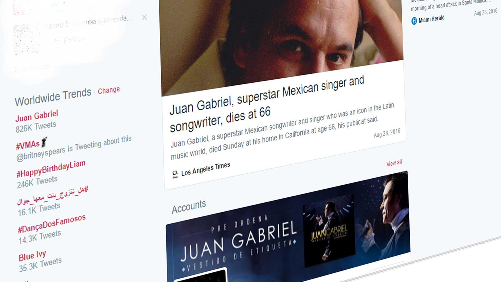 El Anuncio De La Muerte De Juan Gabriel En Las Redes