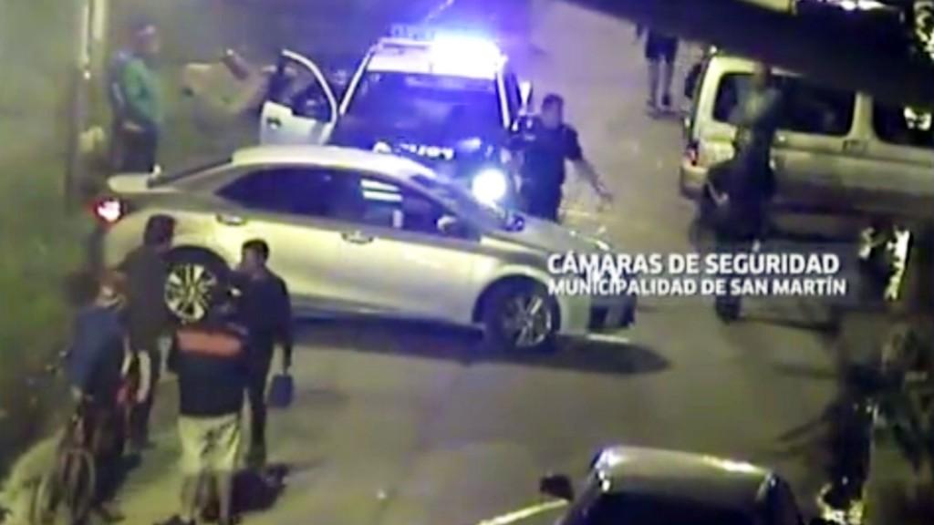 El auto del médico en el que mató al ladrón