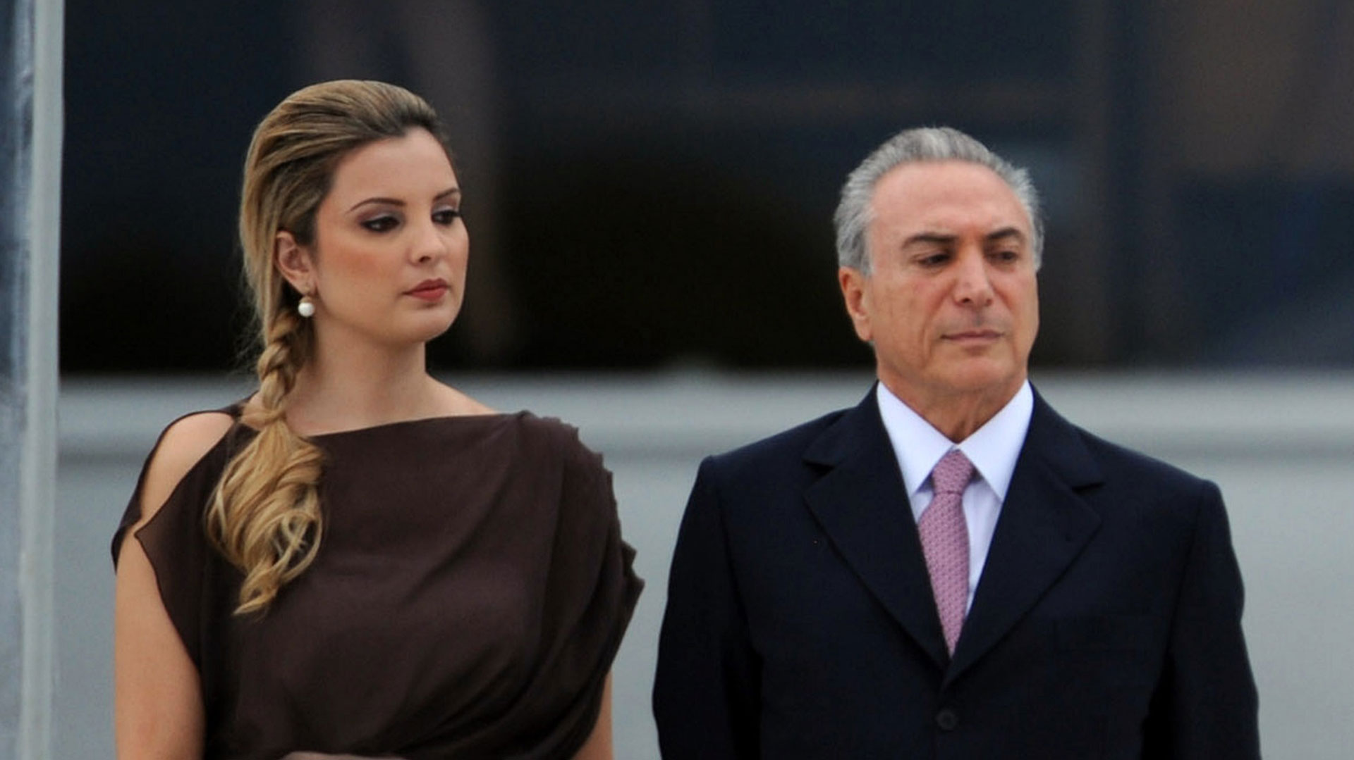 Marcela Temer junto a Michel Temer el día de la asunción oficial