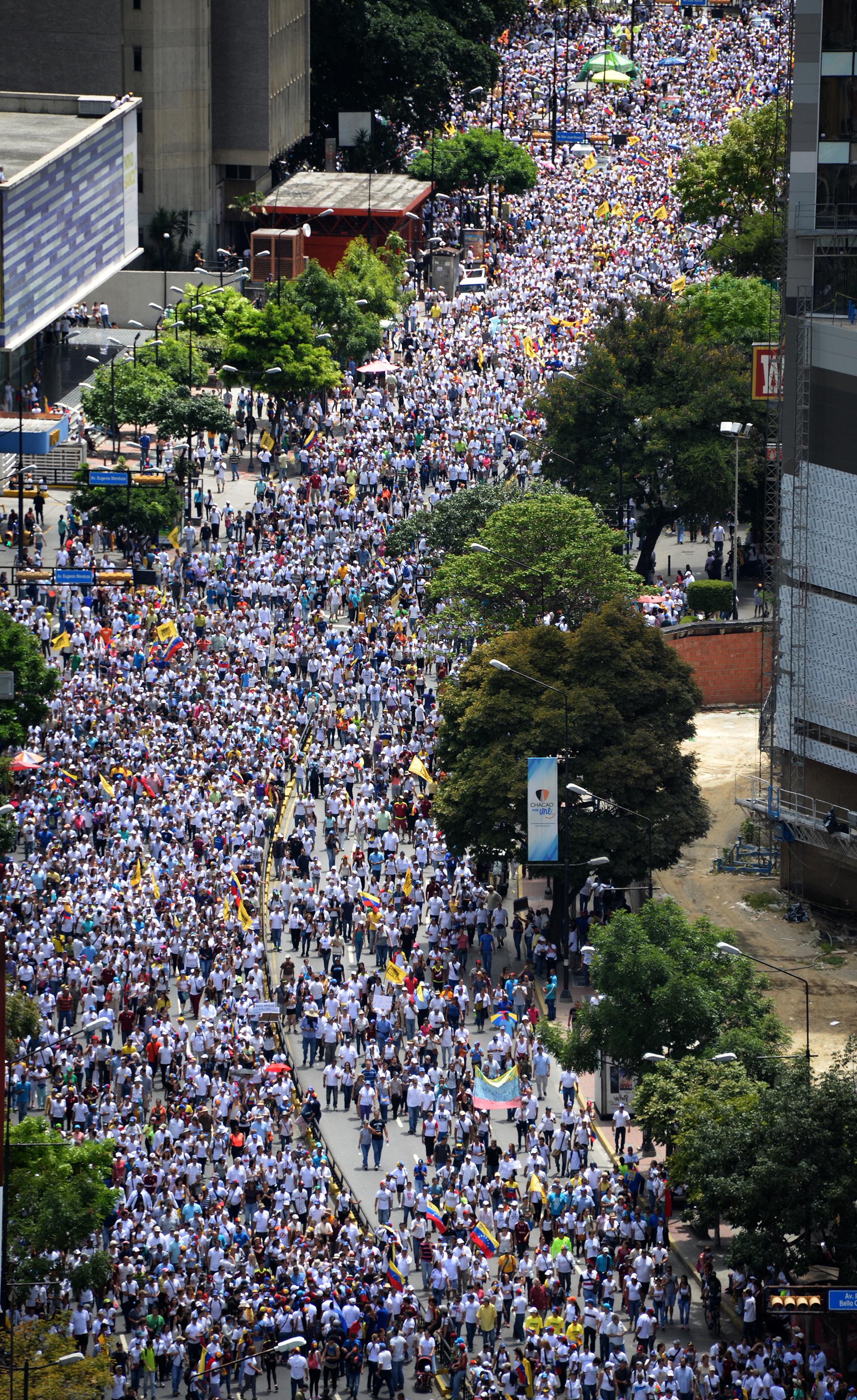 La Toma de Caracas comenzó a las 8:00 (AFP)