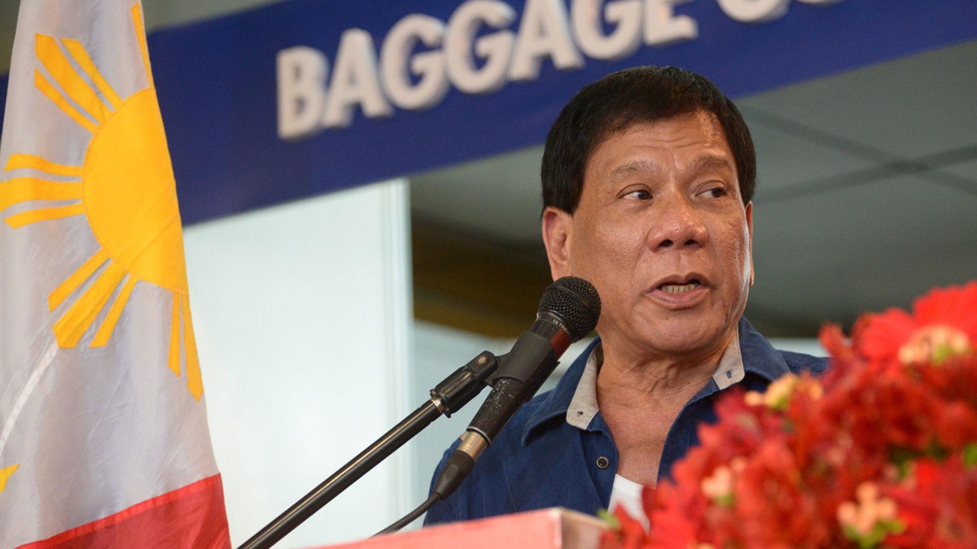 Rodrigo Duterte se ha vanagloriado de haber matado a una persona cuando tenía 16 años