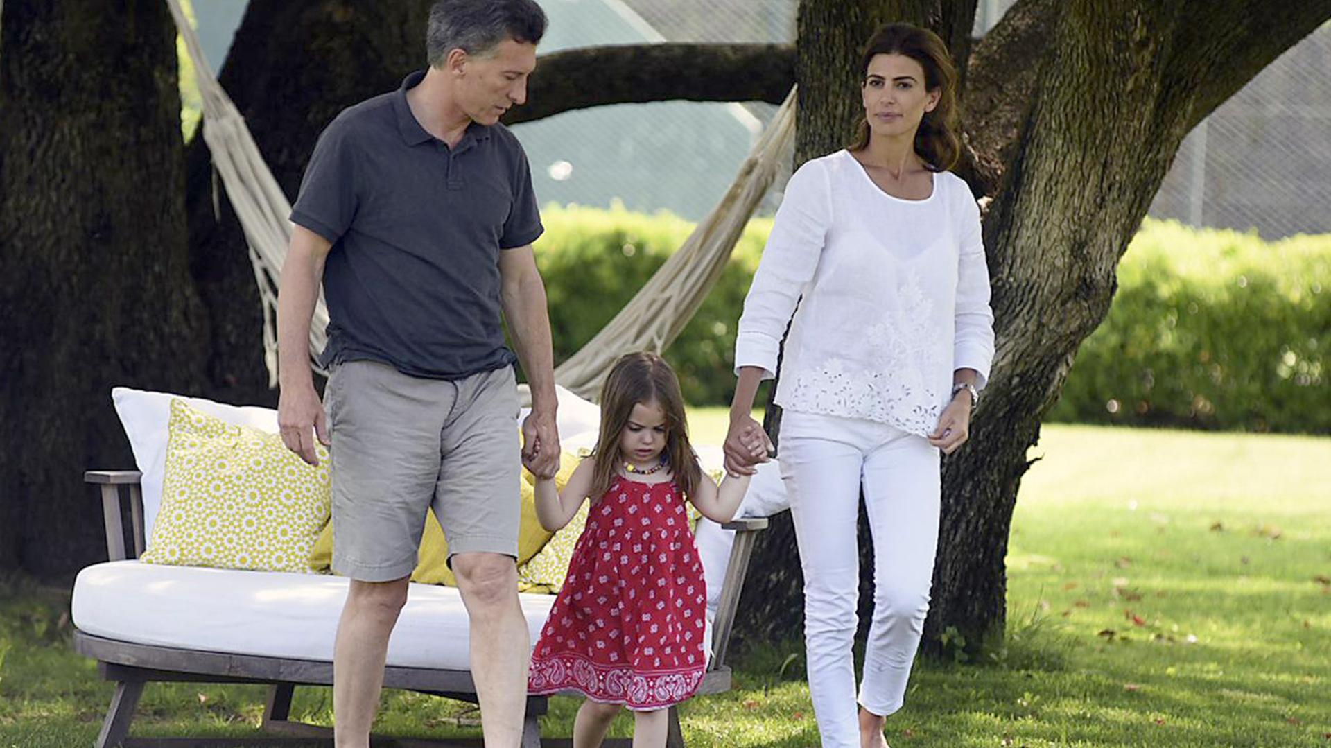 Mauricio Macri y su familia (foto de archivo)