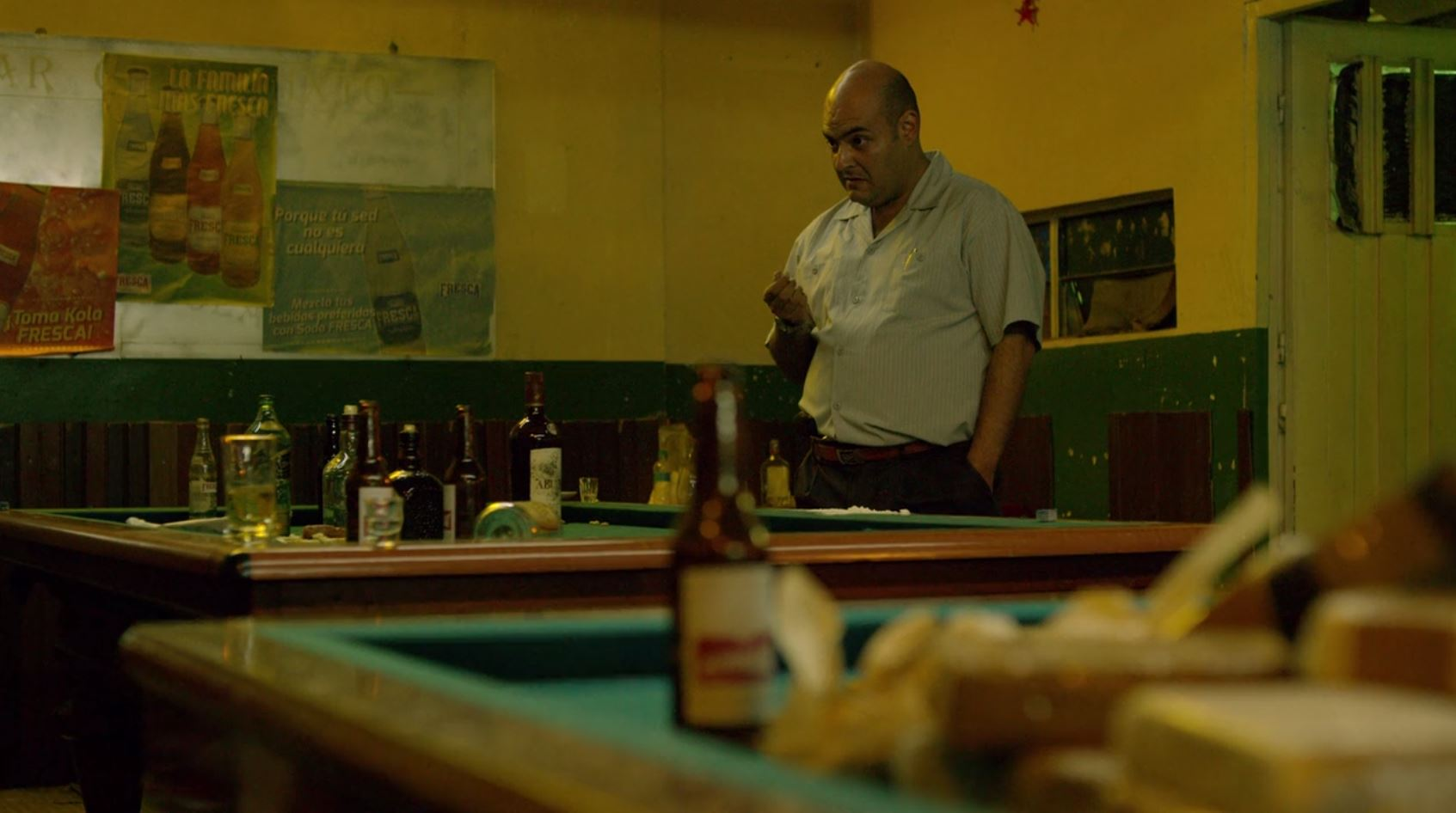 Ricardo Prisco, durante una escena en la segunda temporada de Narcos
