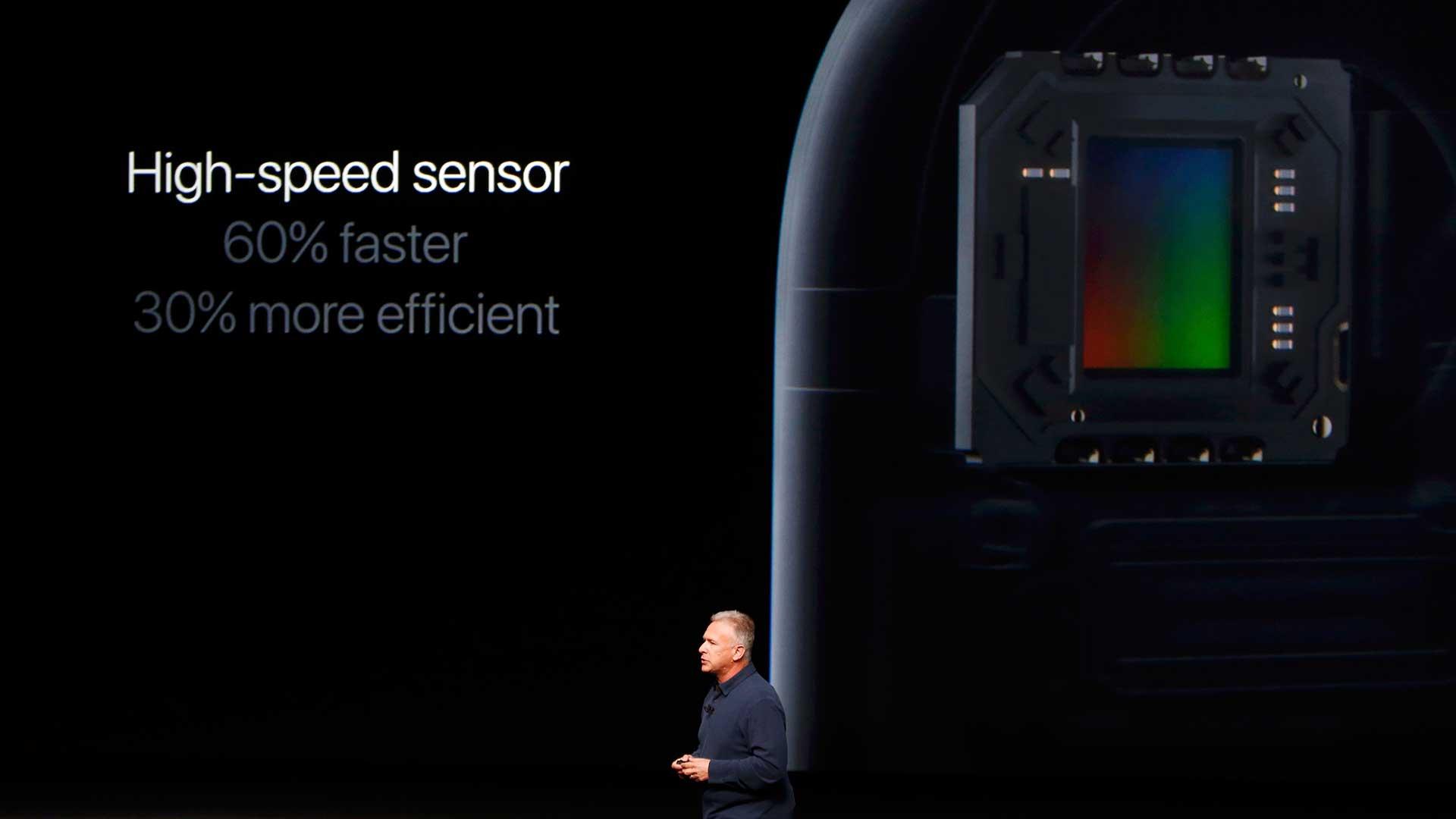 El sensor de la cámara es 60% más rápido y un 30% más eficiente