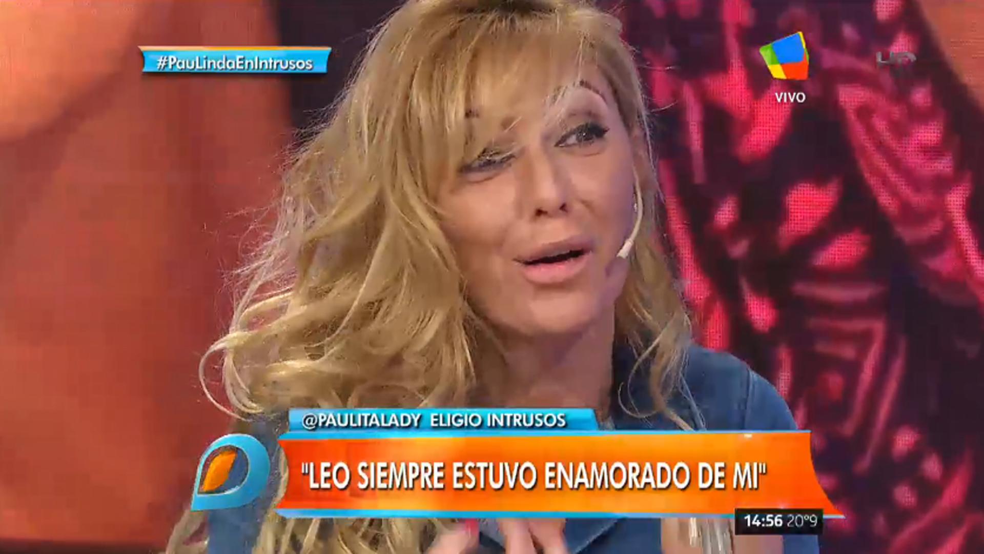 """Paula Linda en el piso de """"Intrusos"""""""
