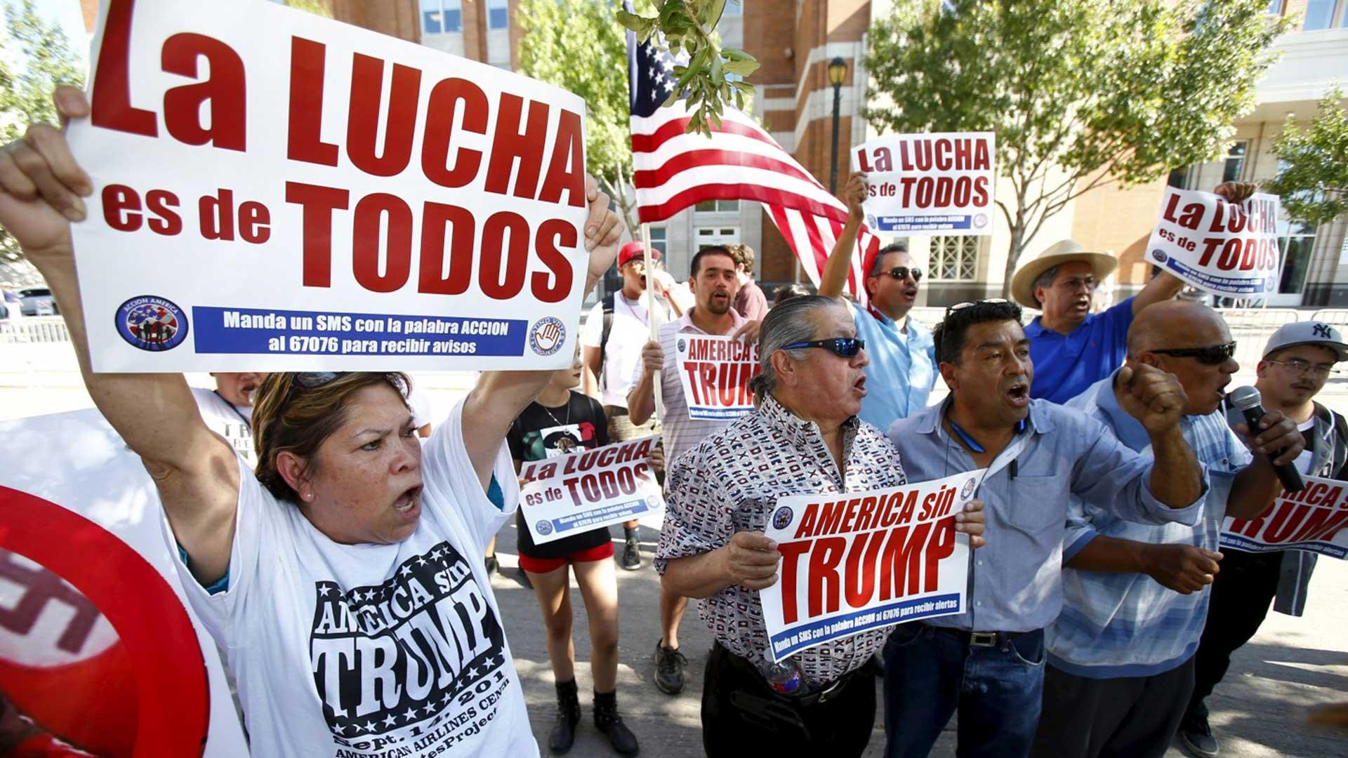 La comunidad latina inmigrante en EEUU sería una de las más afectadas con las medidas de Trump.