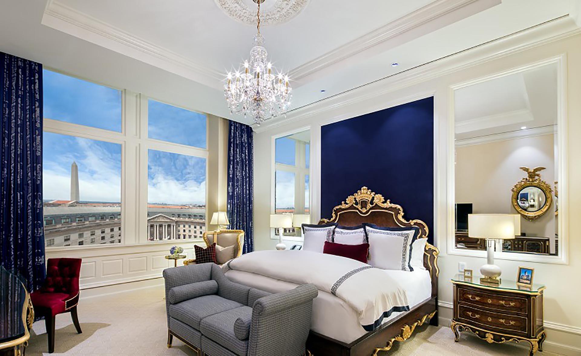 La suite presidencial. Puede permanecer allí una noche por sólo… 9.600 dólares