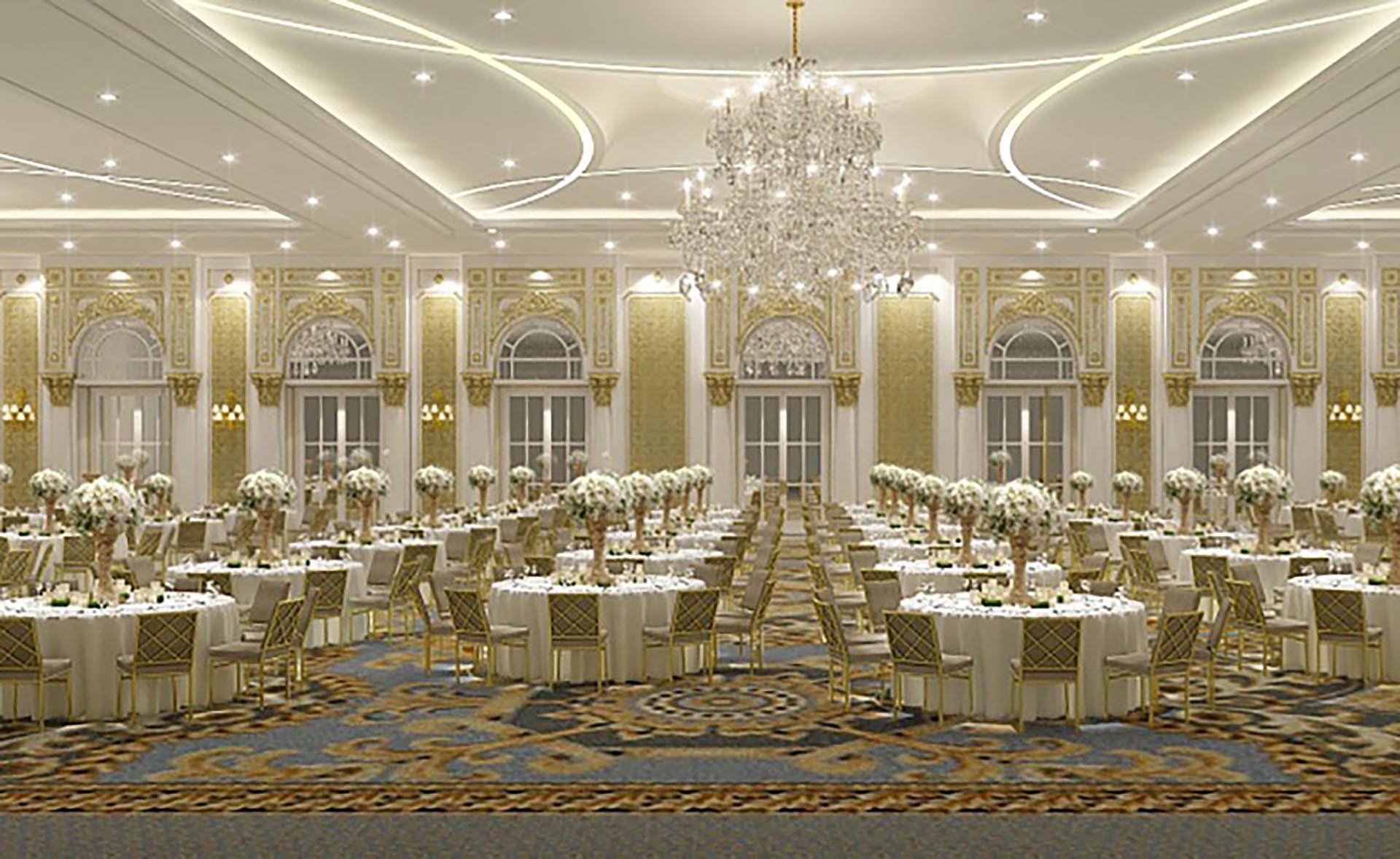El Salón de Baile presidencial del Trump International Hotel, a pocas cuadras de la Casa Blanca