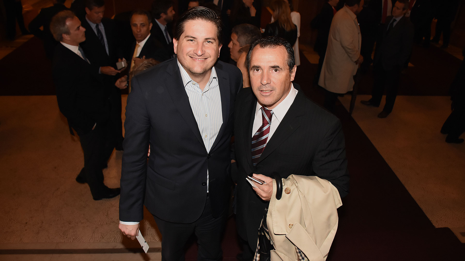 Gastón Corral, director HSBC Argentina con Ezequiel Barrenechea