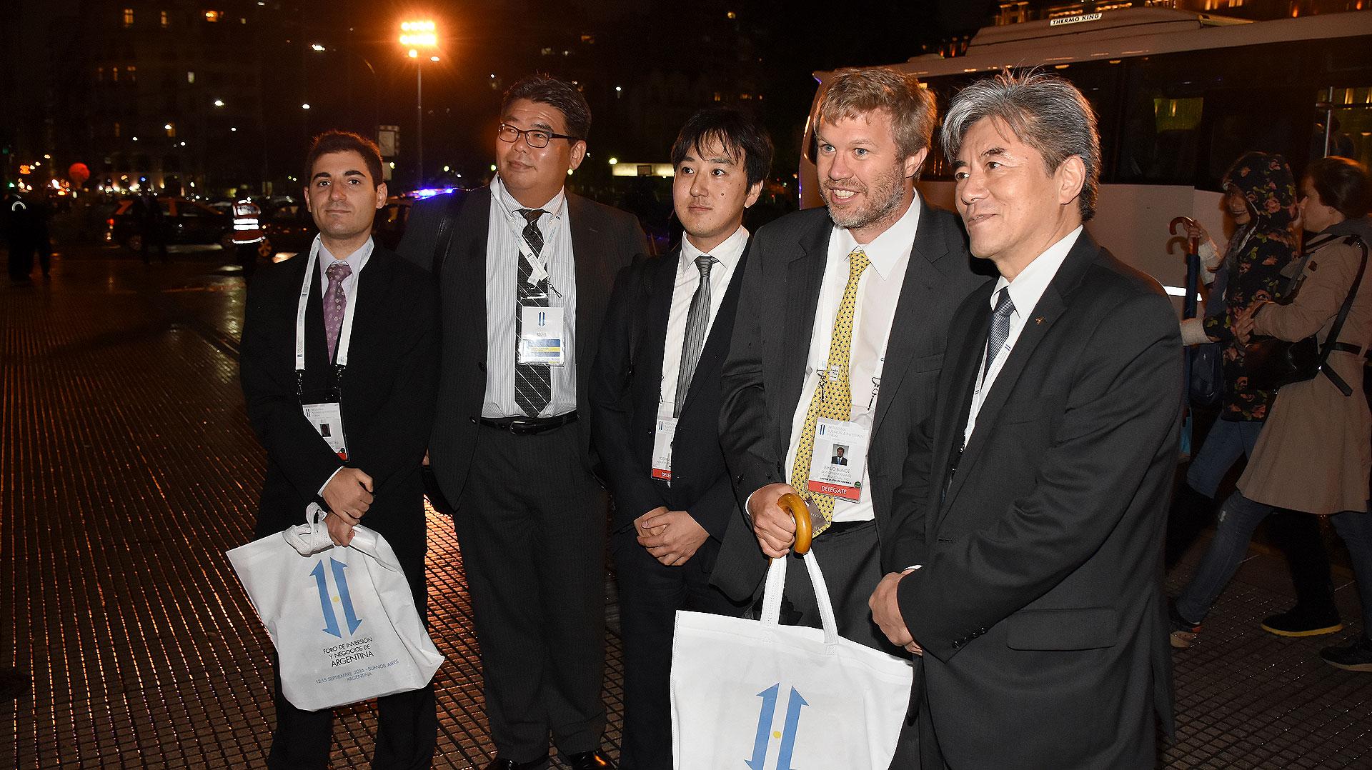 Una de las delegaciones de empresarios extranjeros