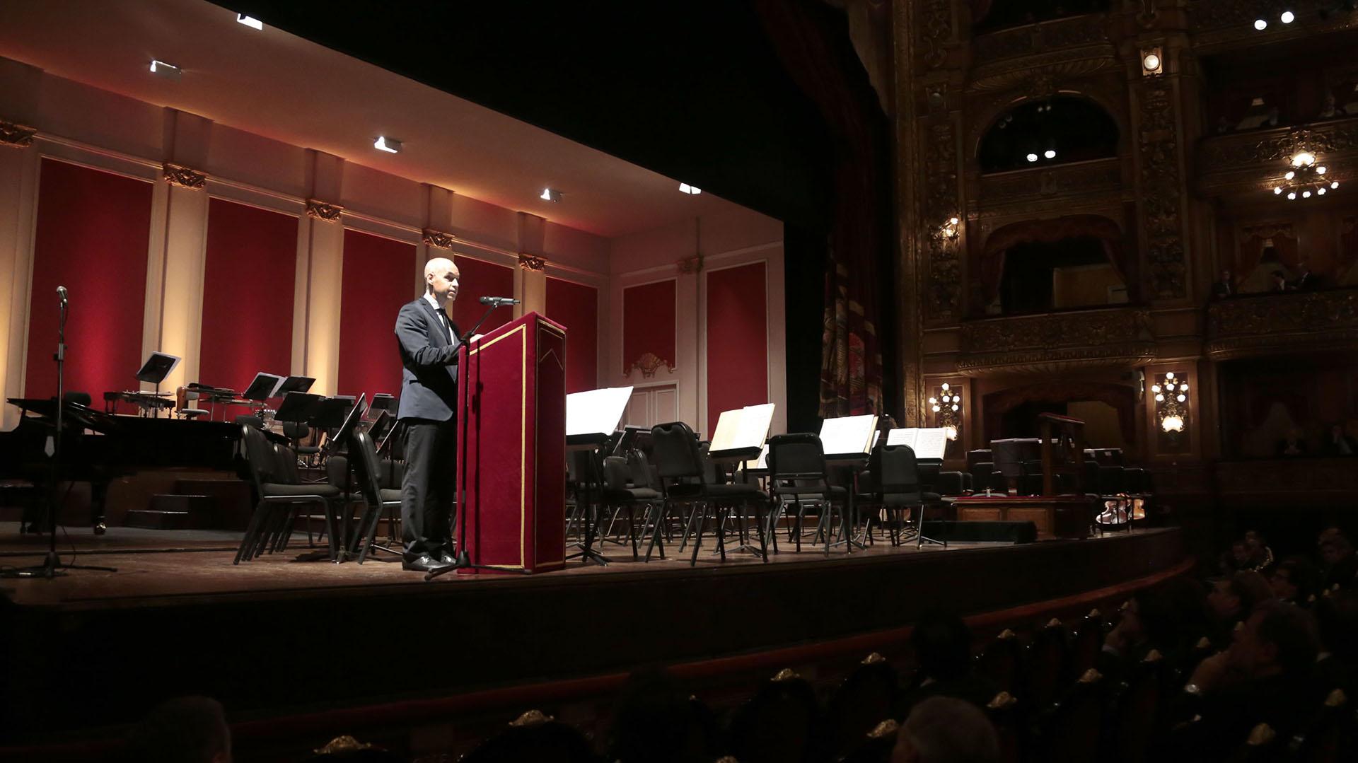 La apertura de la gala estuvo a cargo del jefe de Gobierno porteño, Horacio Rodríguez Larreta.