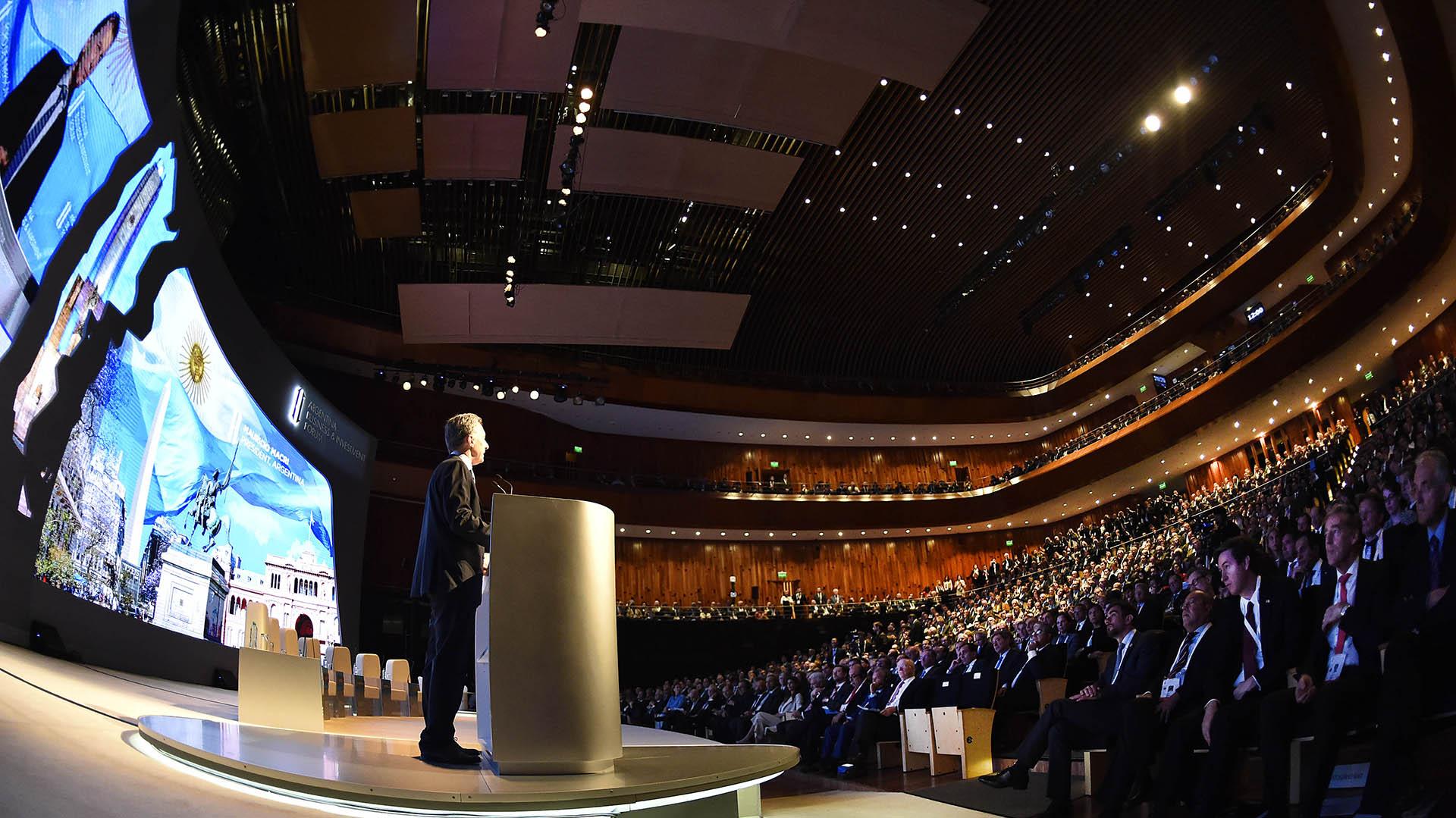 El presidente Mauricio Macri inauguró el Foro de Inversiones y Negocios