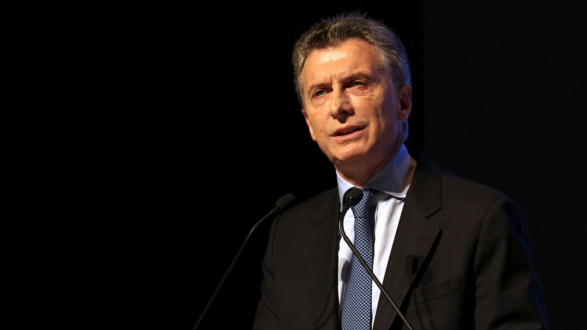 """El Presidente dio un breve discurso en el que invitó a las empresas a participar del """"cambio"""" en el país (Reuters)"""