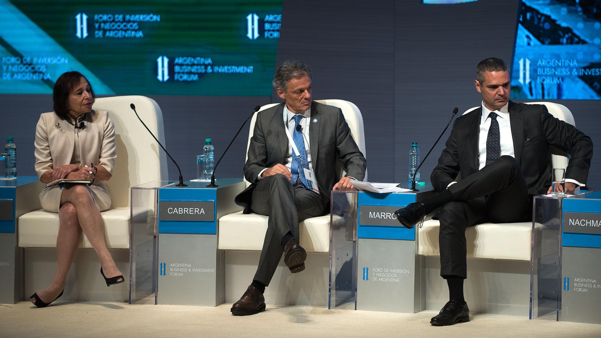 El ministro Francisco Cabrera y Martin Marron