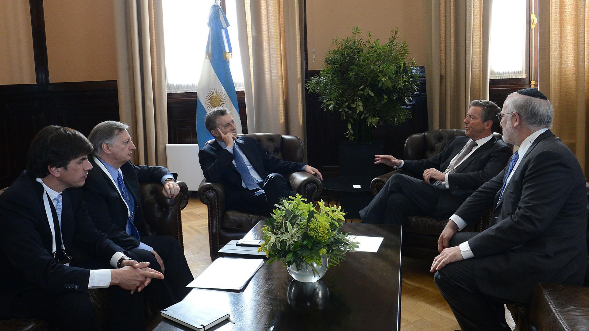 Macri con el titular de Pan American Silver