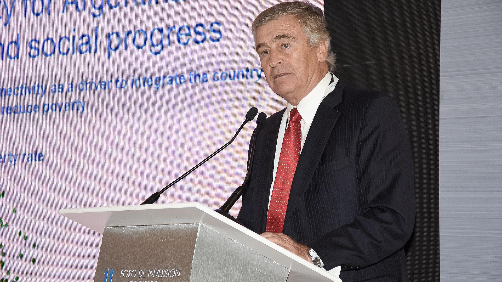 El ministro de Comunicaciones de la Nación, Oscar Aguad