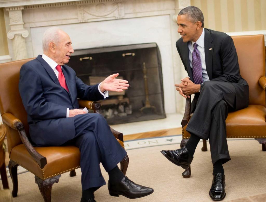 Peres con Obama en un encuentro en la Casa Blanca