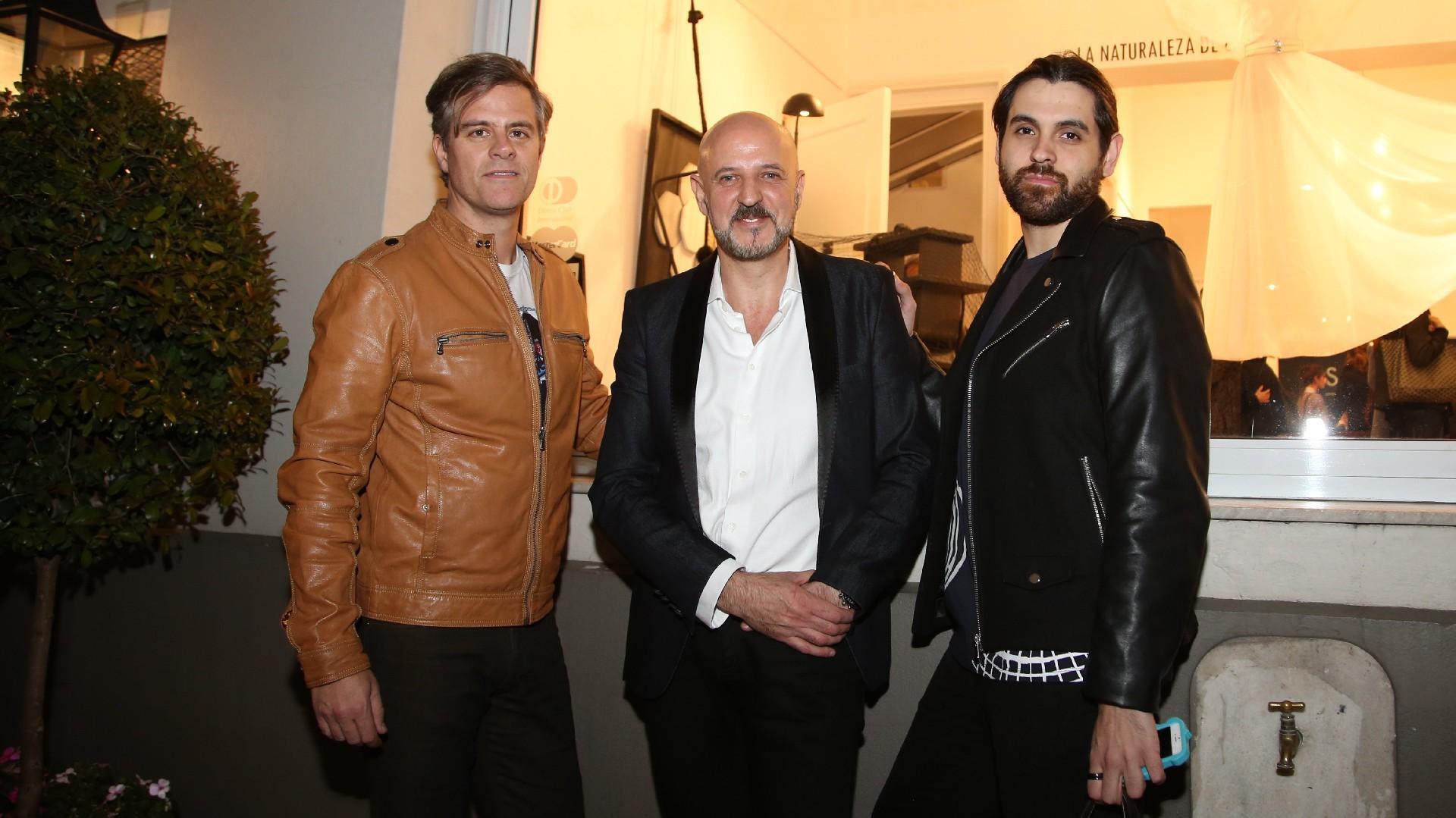 Mike Amigorena, Fabián Zitta y Santiago Sapag