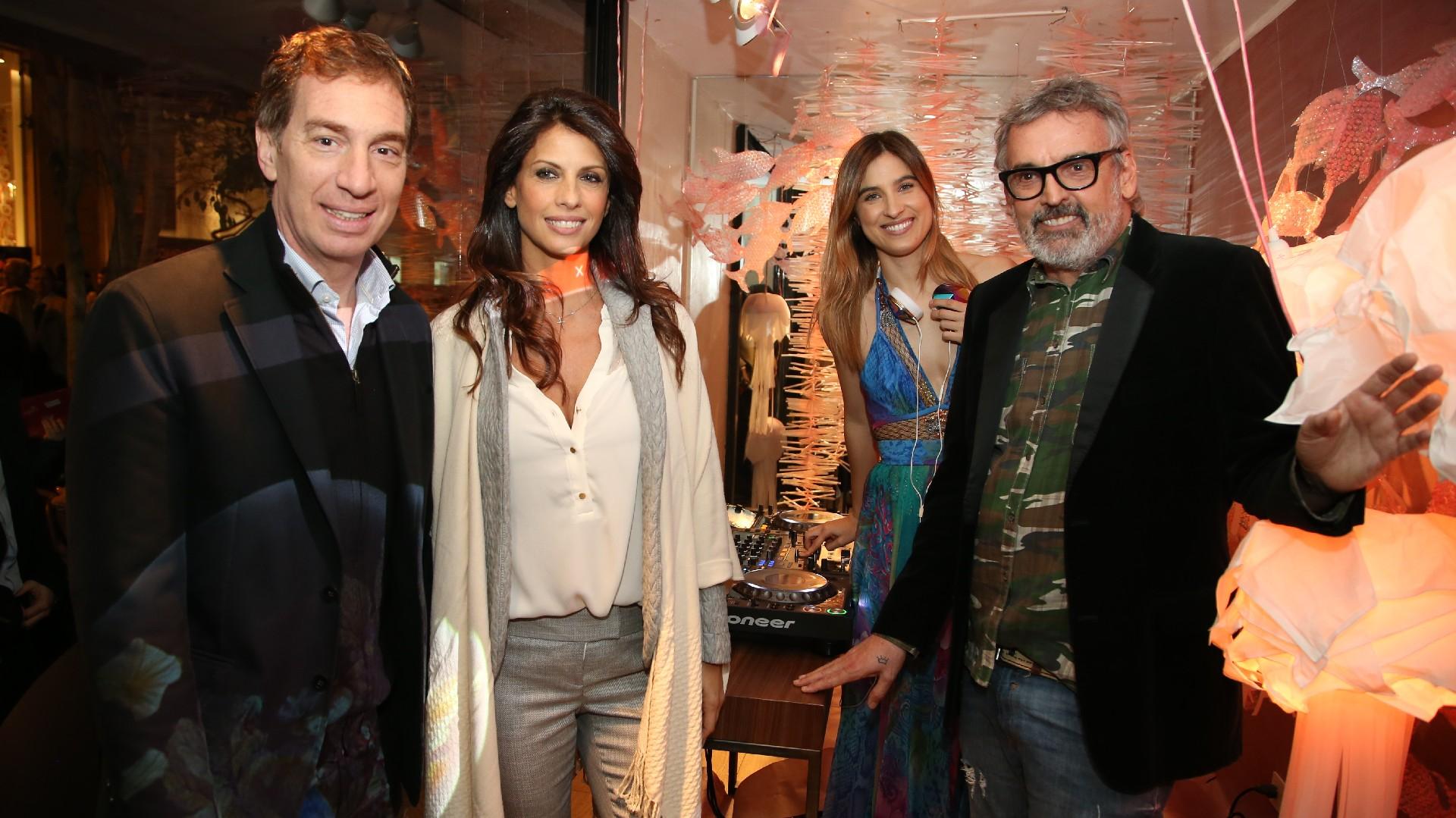 Diego Santilli, Analía Maiorana, Cintia Garrido y Benito Fernández en la inauguración de Tendencia Arenales /// Fotos: Nicolás Aboaf