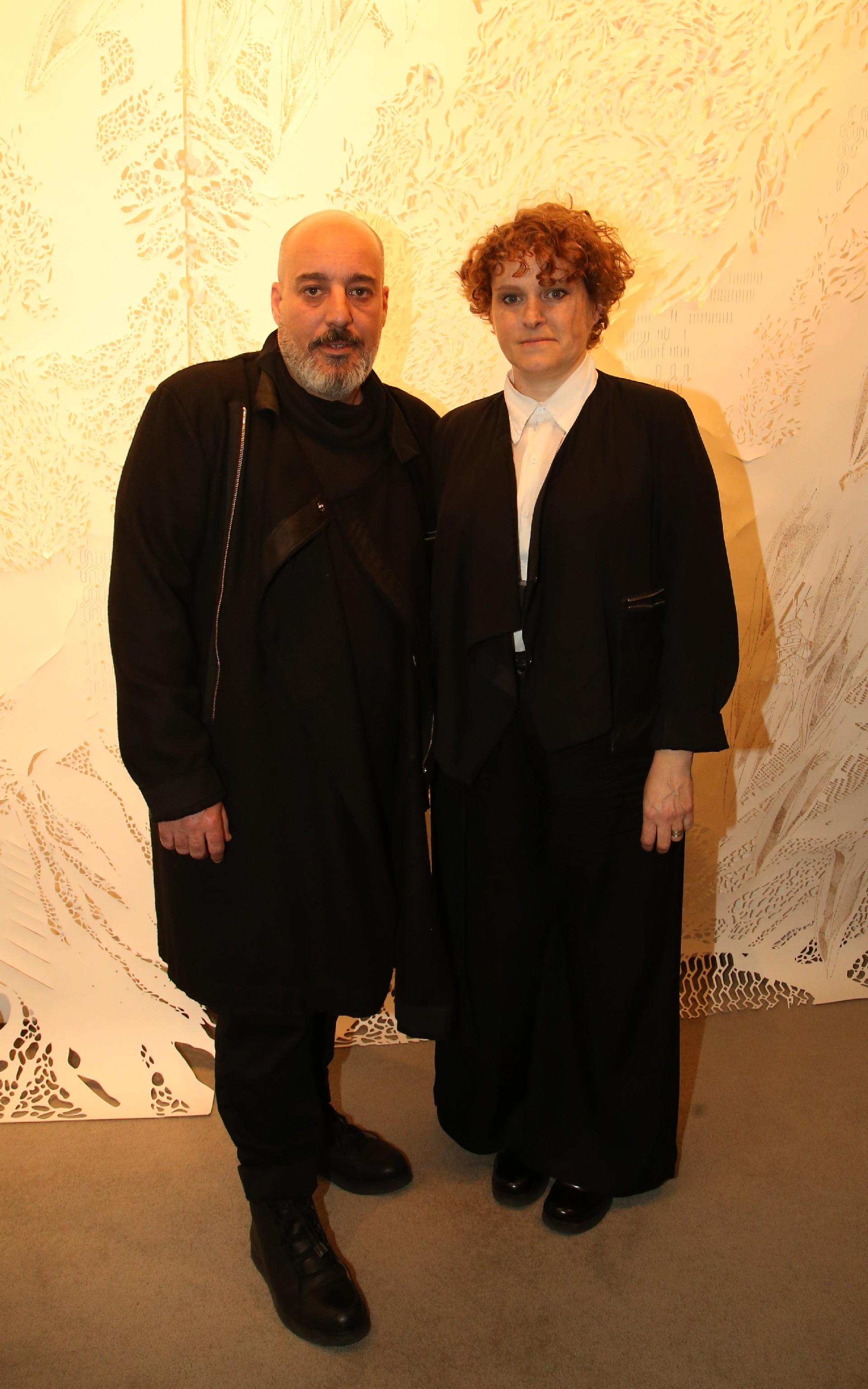 Los diseñadores Emiliano Blanco y Camila Milessi