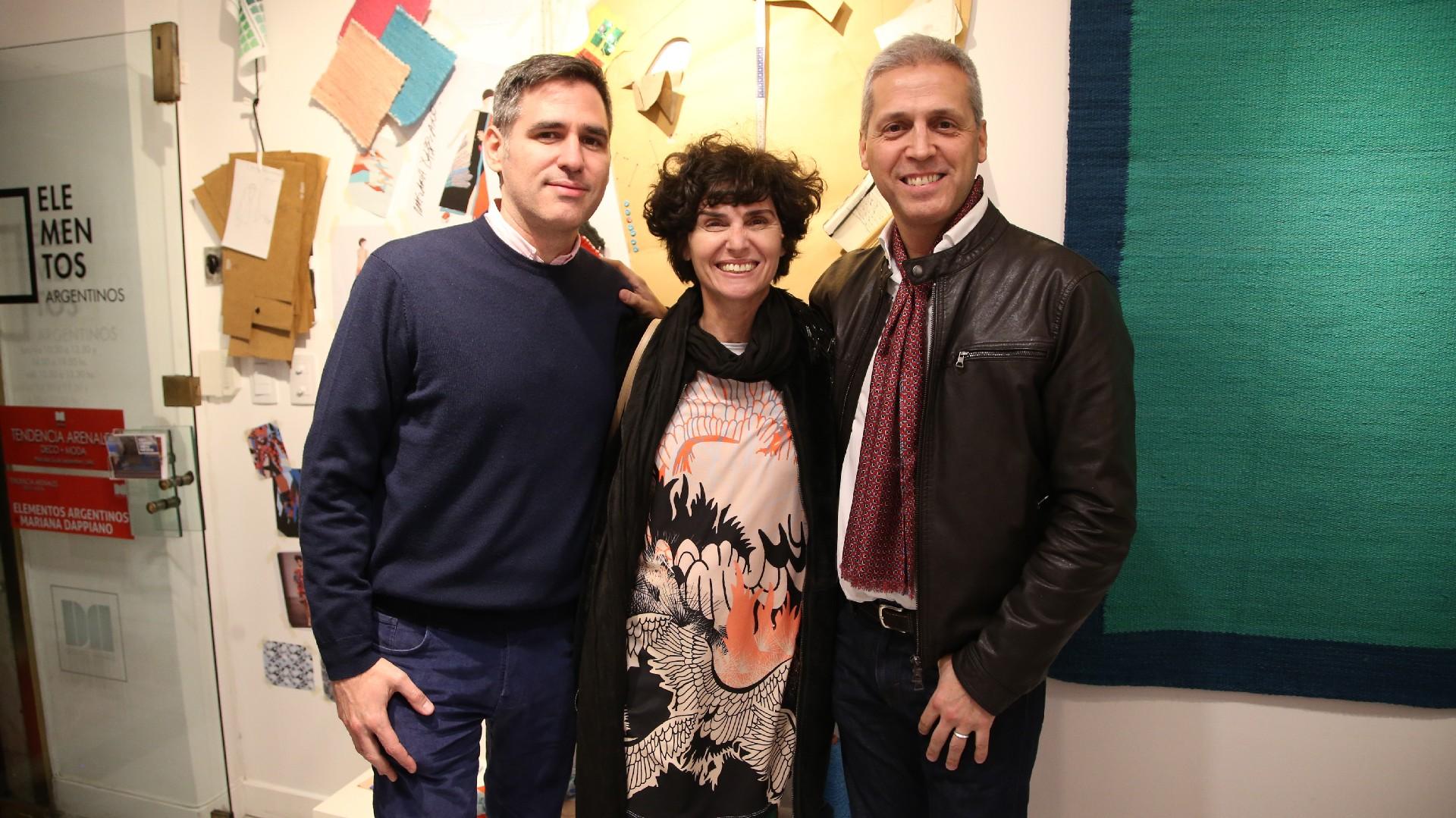 Mariana Dappiano junto a Pablo Mendivil y Fernando Bach