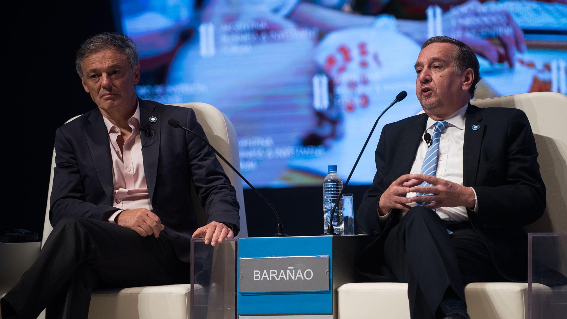 Francisco Cabrera y Lino Barañao compartieron el panel inicial (Fotos: Adrián Escandar)