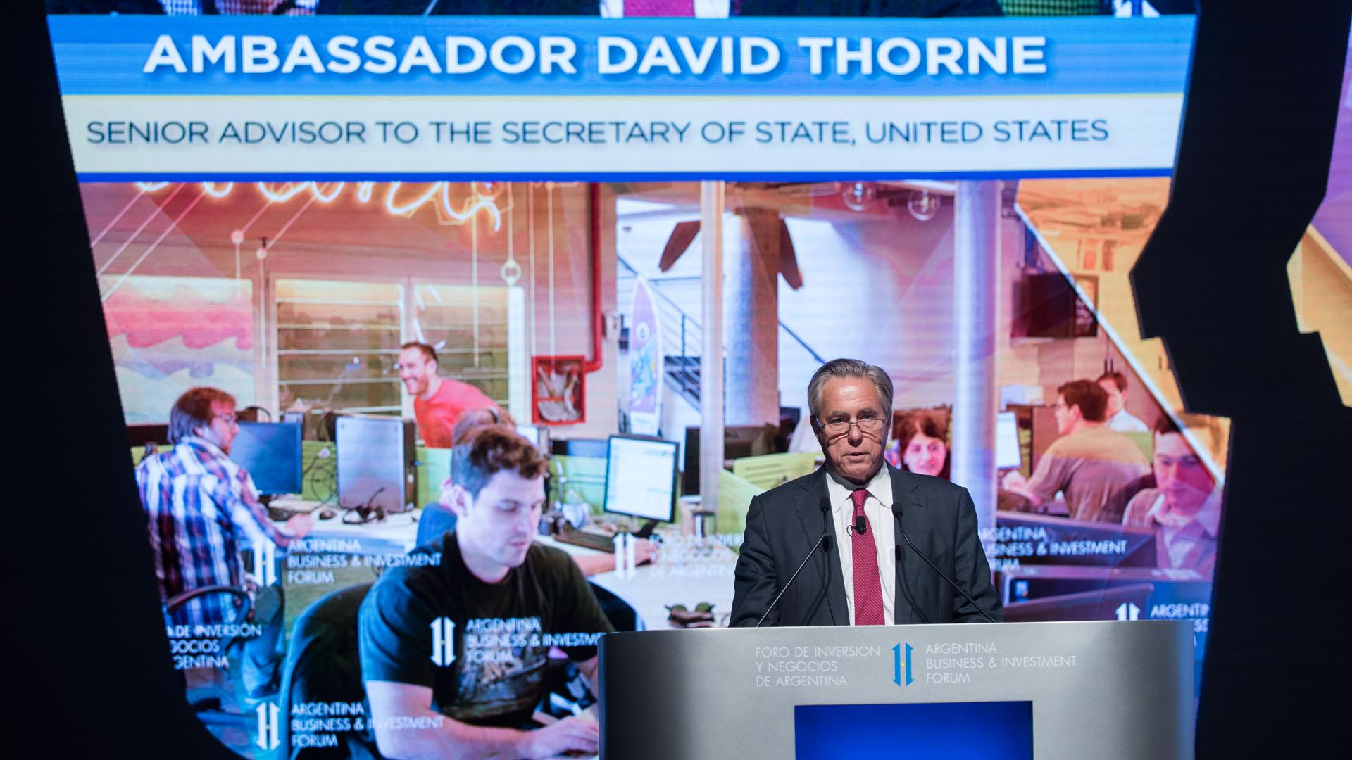 David Thorne, Asesor Senior del Secretario de Estado, Estados Unidos (Adrián Escandar)