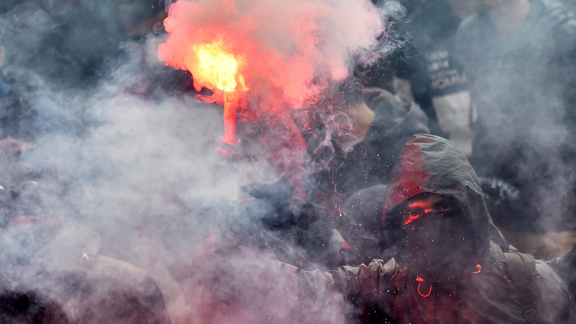Otras 15 personas fueron detenidas antes y durante la movilización en París (AFP)