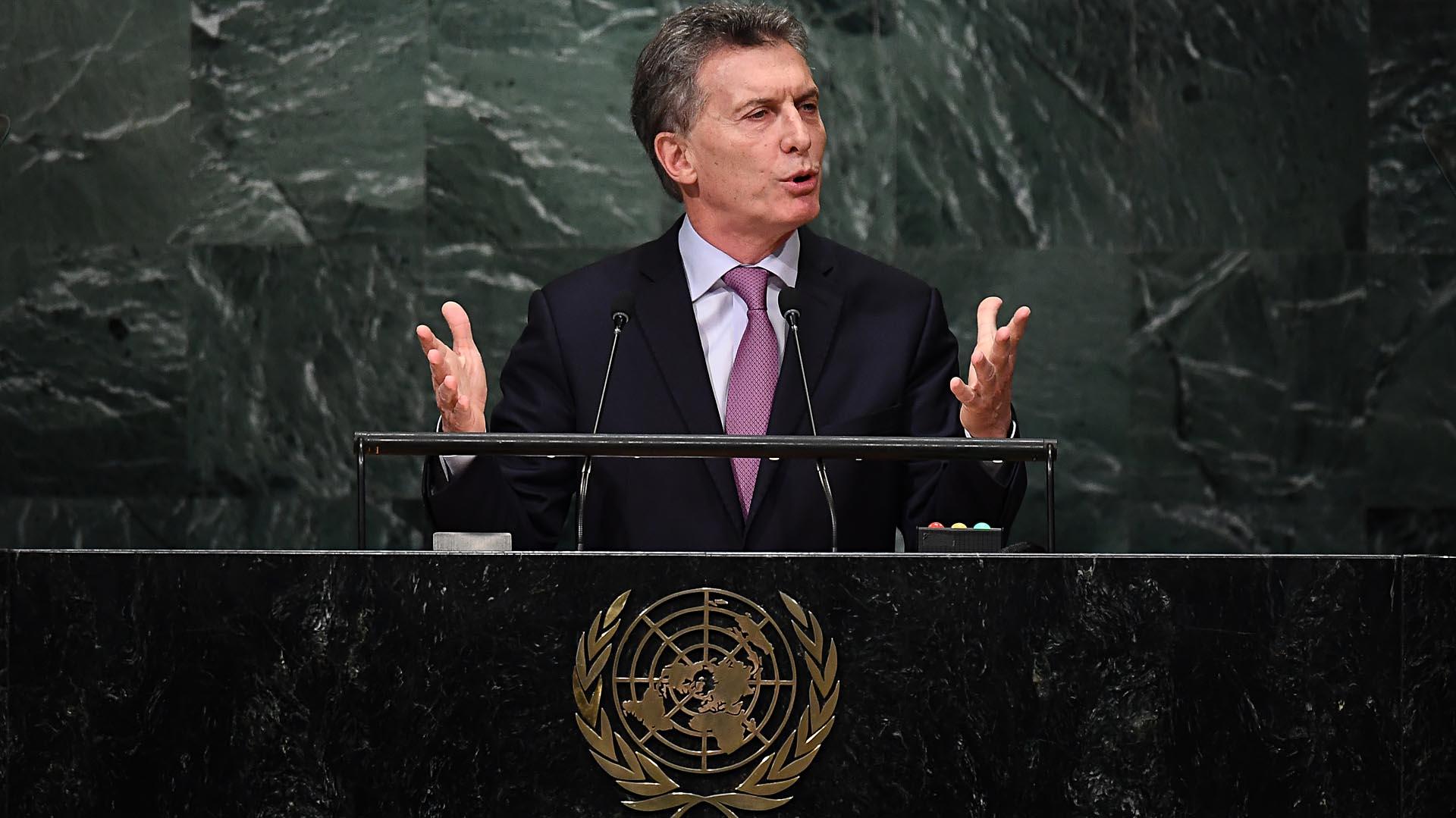 Resultado de imagen para Macri en la ONU