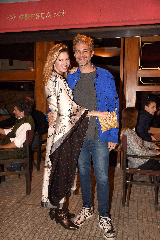 Dolores Barreiro y Matías Camisani en la gran apertura del nuevo restaurante, ubicado sobre la calle Ugarteche, en Palermo