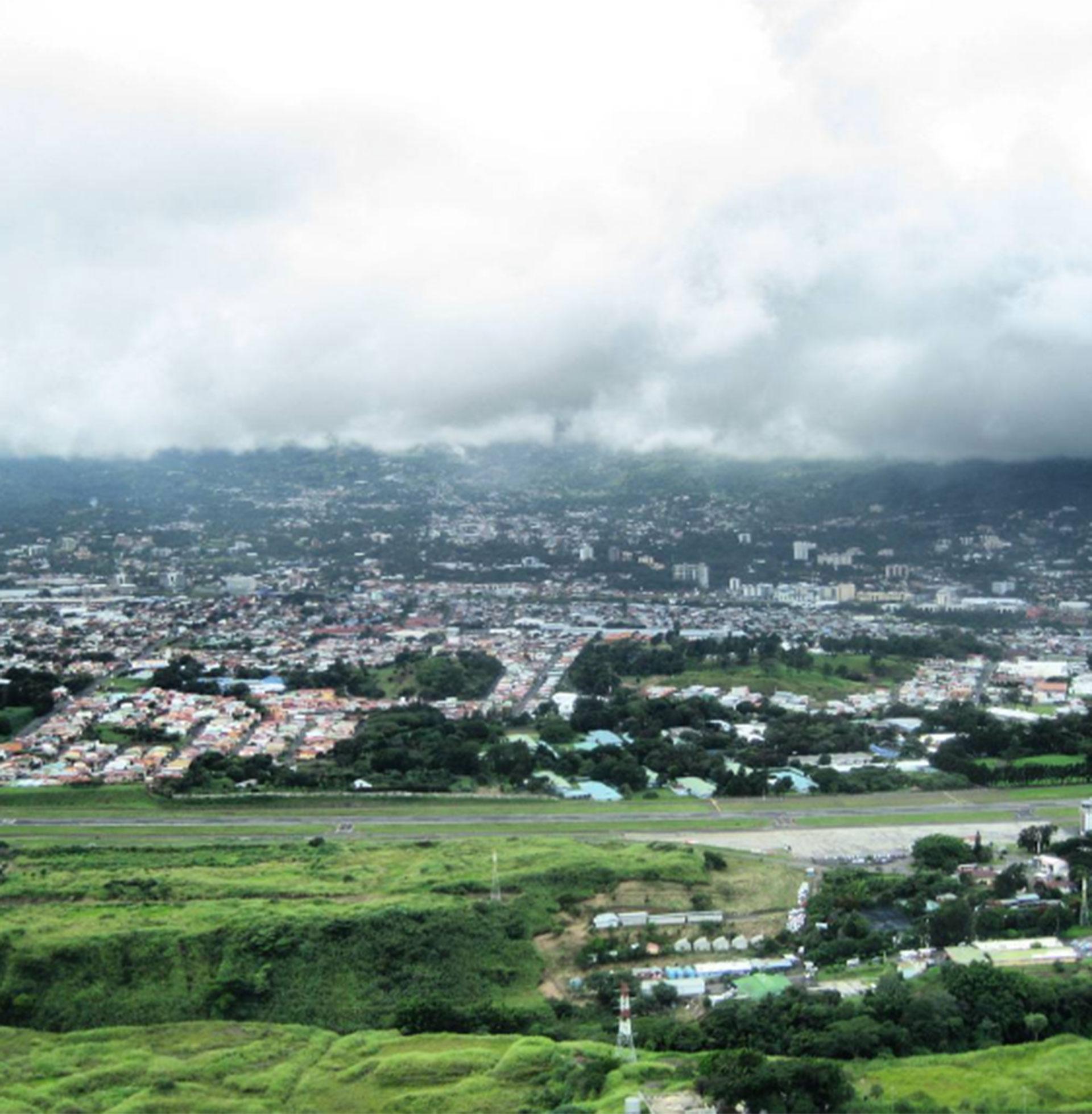 El cielo cubierto en San José de Costa Rica