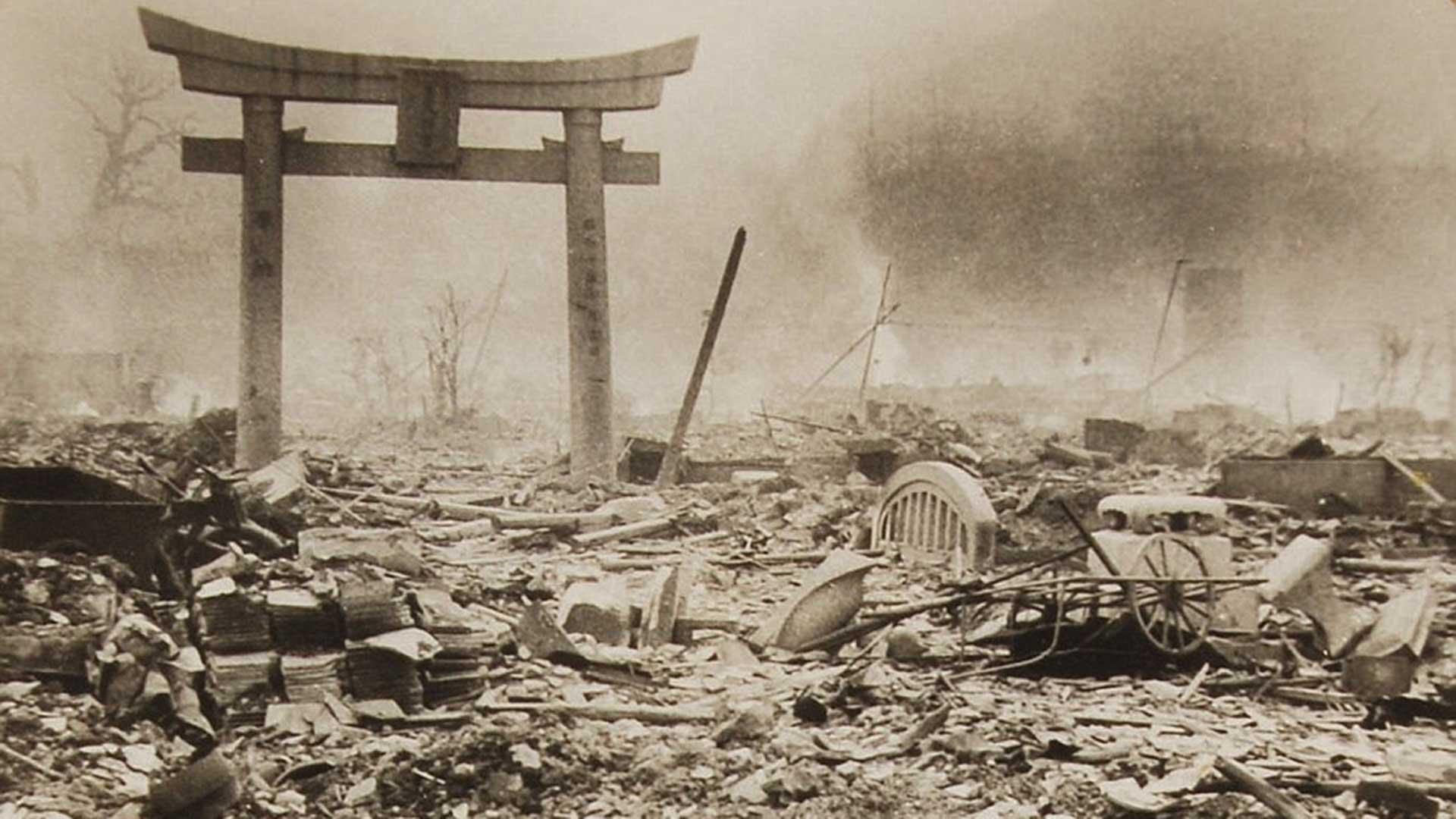 Una imagen de la destrucción de Nagasaki