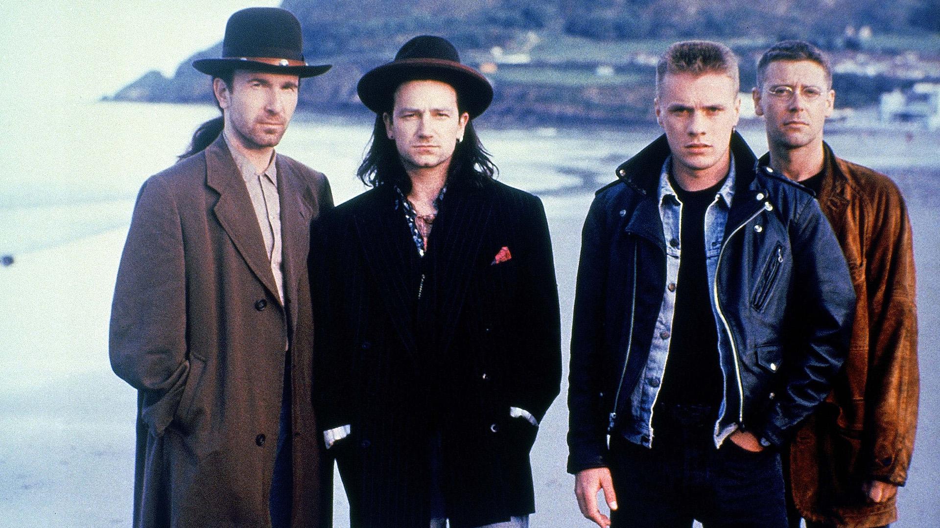 Los miembros de U2 en los 80