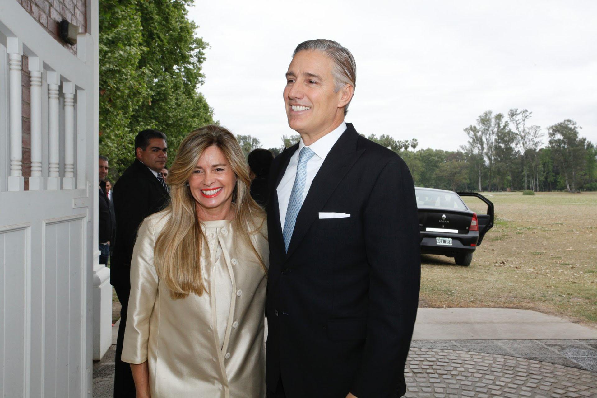La senadora María Laura Leguizamón y el empresario Marcelo Figueiras.