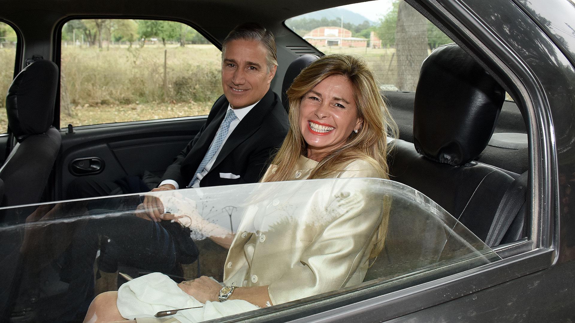 La senadora nacionalMaría Laura Leguizamón y el empresario farmacéutico Marcelo Figueiras.
