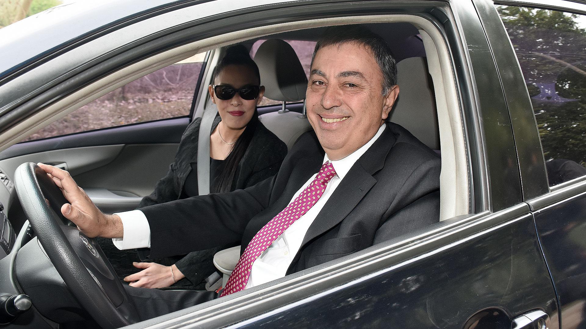 Rodolfo Urtubey junto a su esposa.