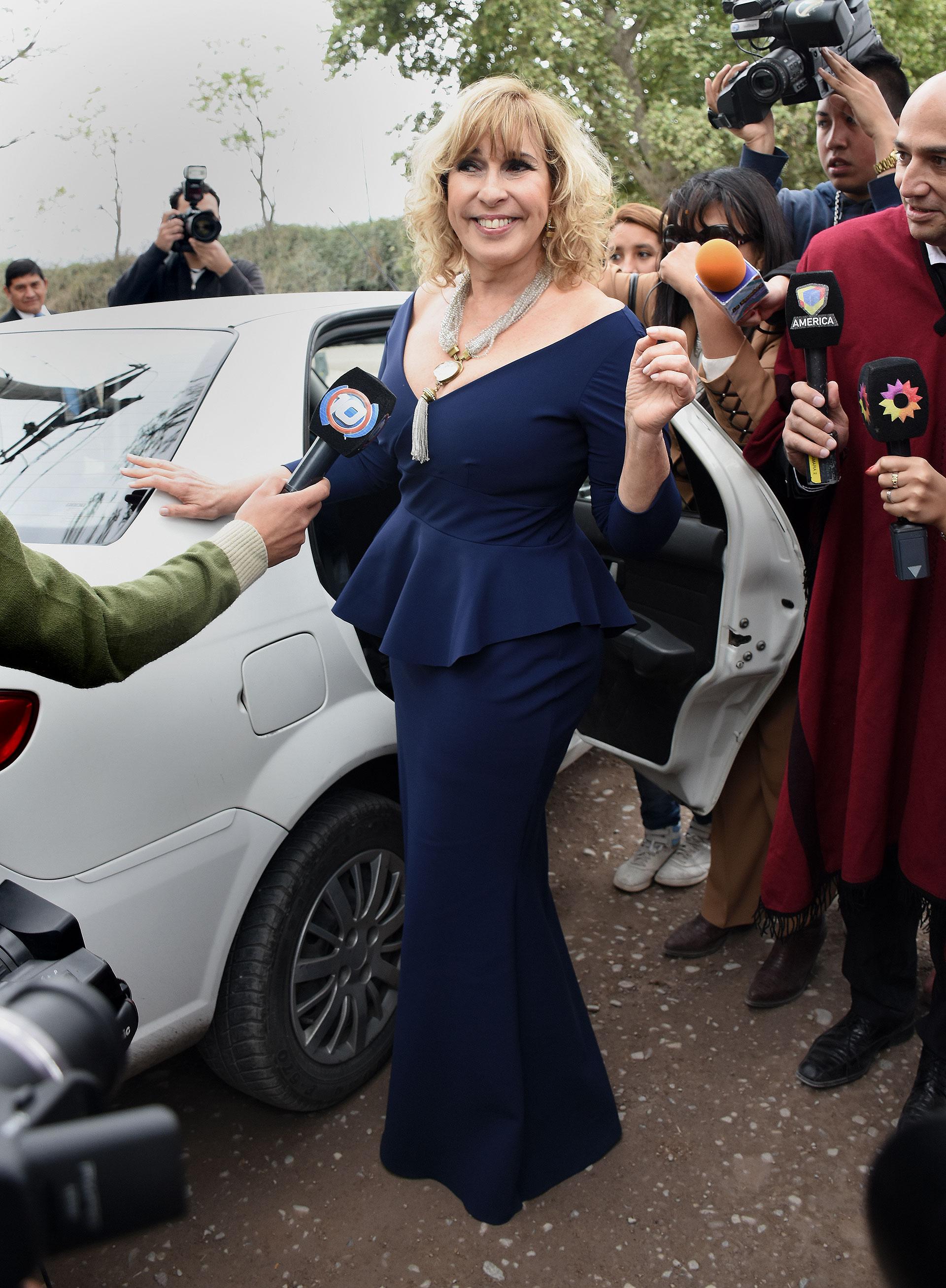 La actriz y conductora de TV Georgina Barbarossa.