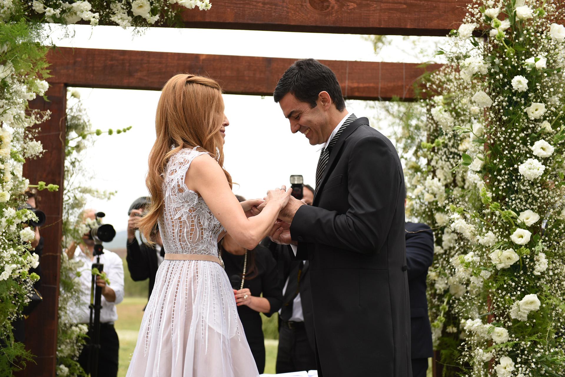 La actriz pasó la noche previa a su casamiento en Finca Las Costas con su grupo de amigas más cercano.