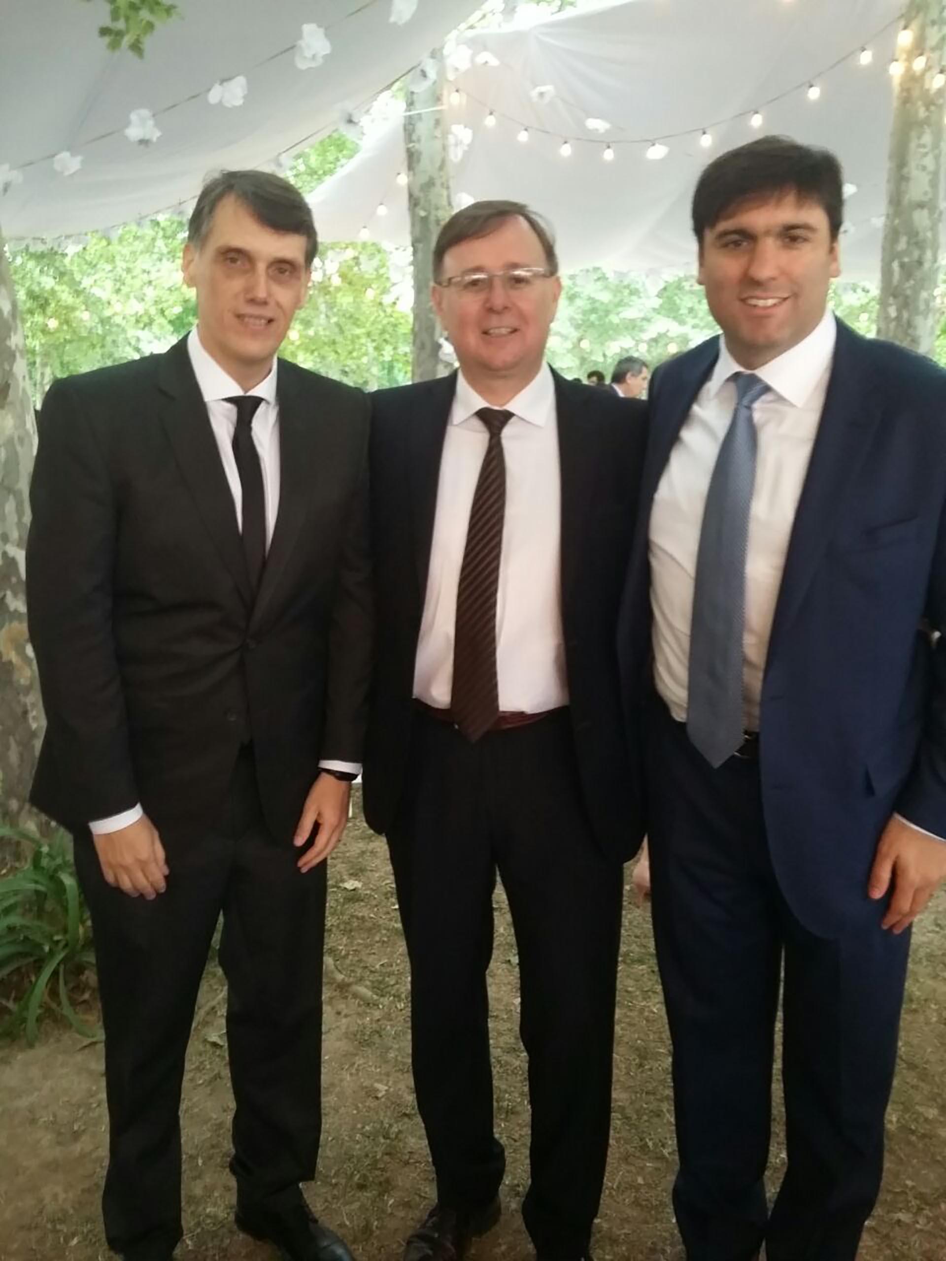 Los diputados Pablo Kosiner, Oscar Romero y Diego Bossio.