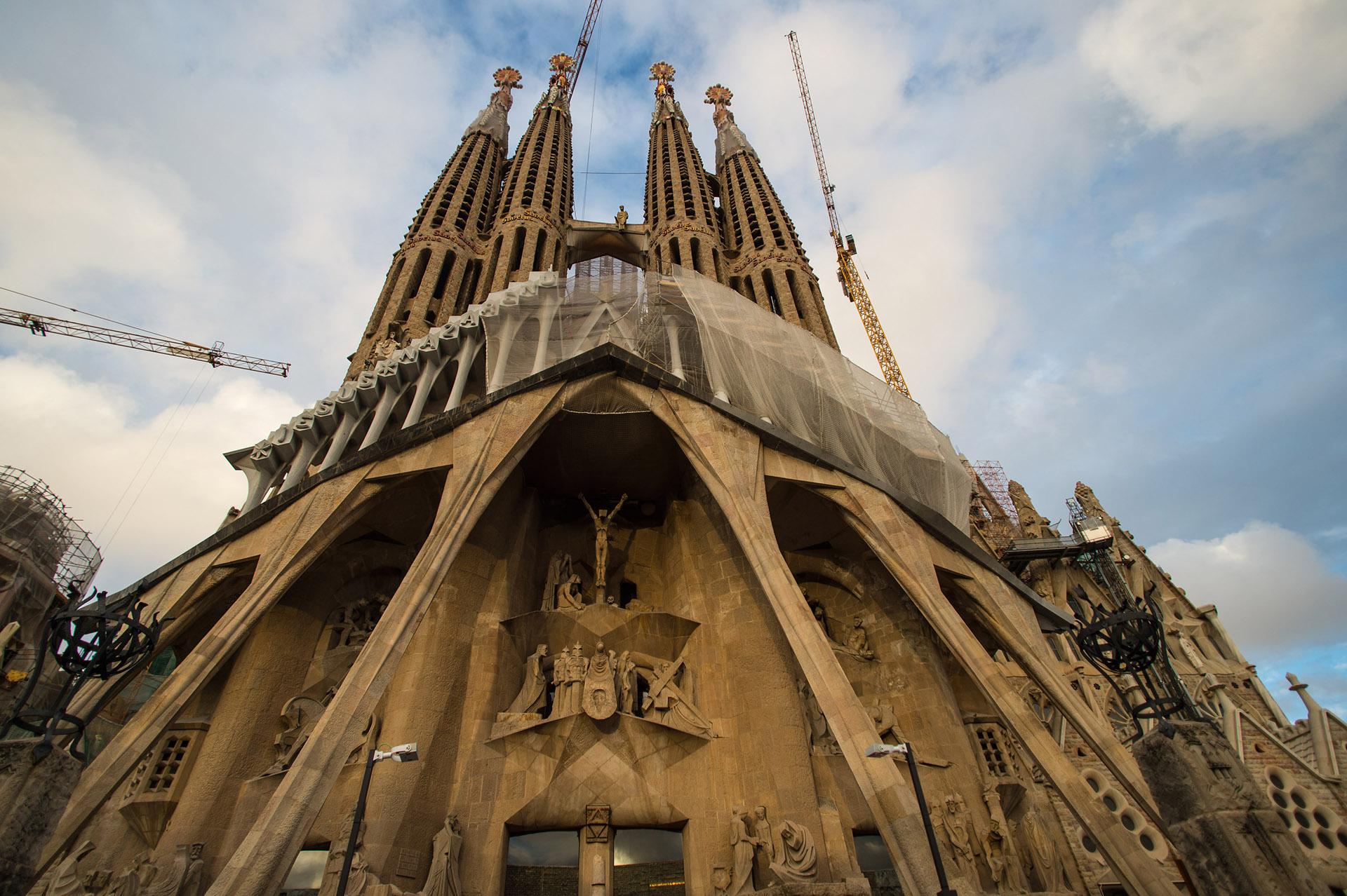 La Sagrada Familia, el monumento más importante de Barcelona, ícono de la obra del famoso arquitecto Antoni Gaudi, comenzó su etapa final // Fotos: Getty / AFP