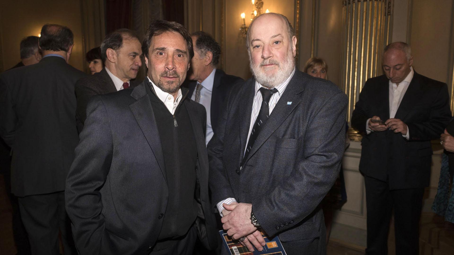 El periodista Eduardo Feinmann y el juez federal Claudio Bonadio.