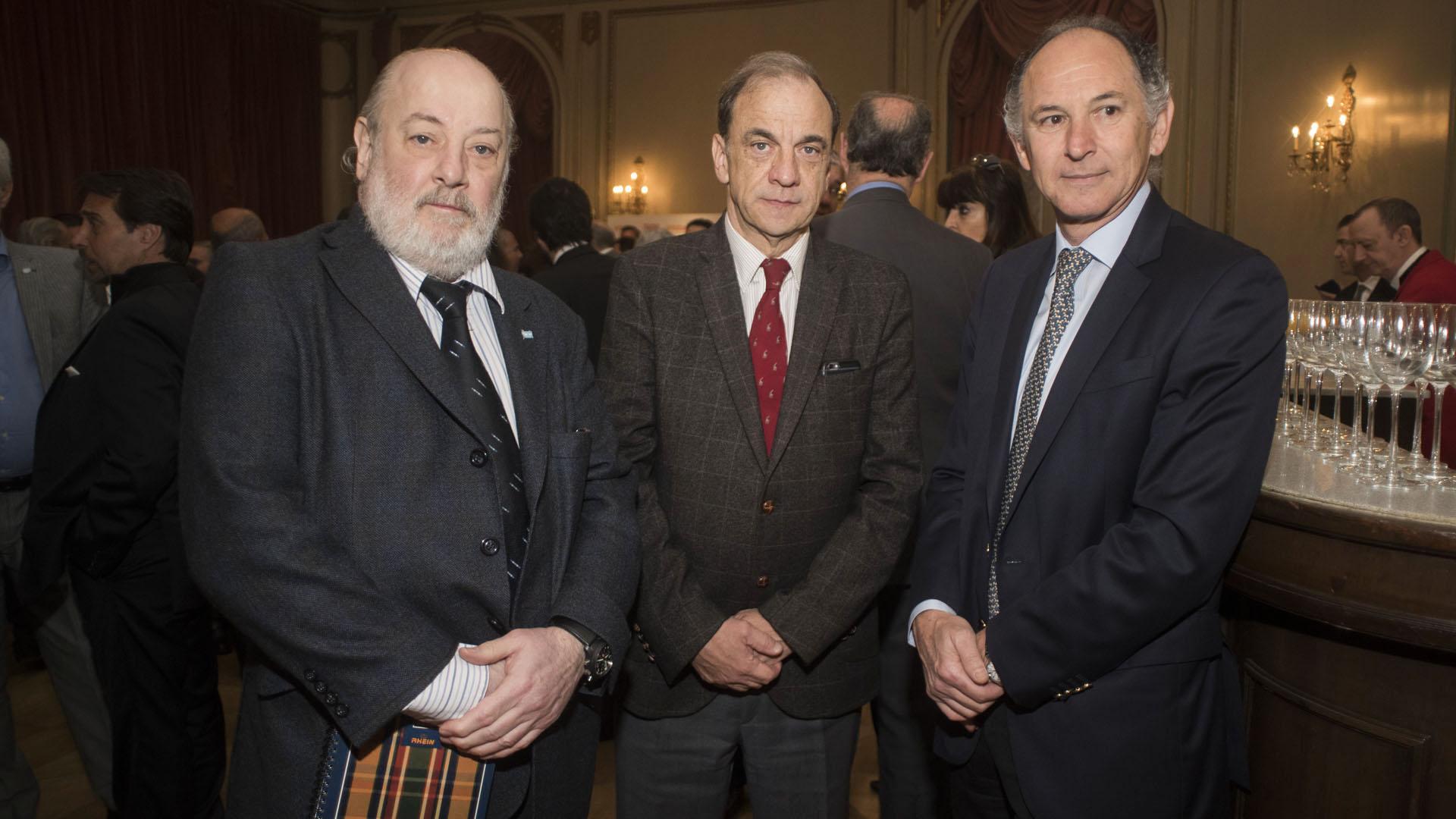 Claudio Bonadio, el fiscal federal Raúl Pleé y el abogado Horacio Tomás Liendo