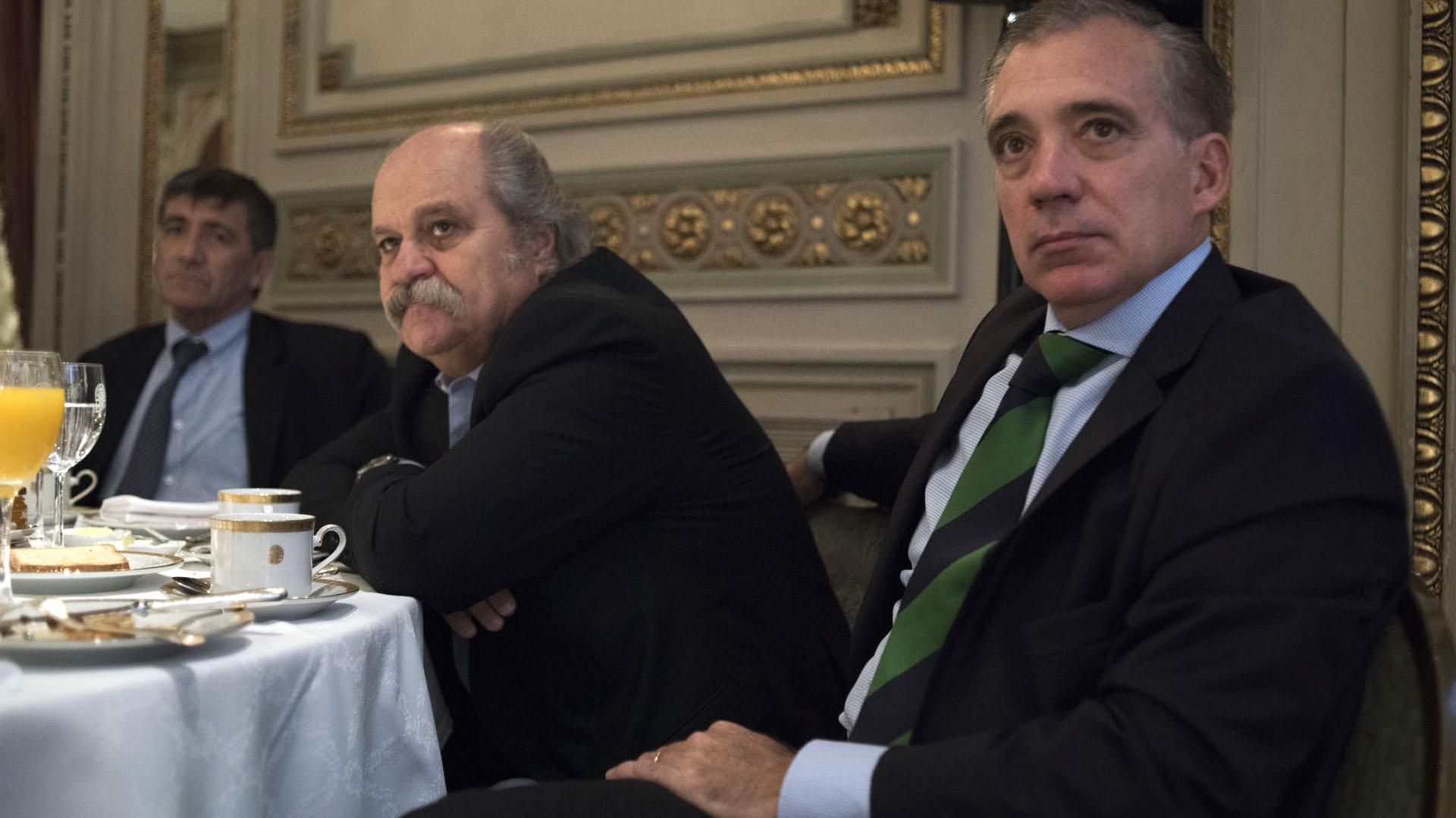 El ex ministro de Seguridad de la provincia de Buenos Aires, Alejandro Granados, y el fiscal Álvaro Garganta.