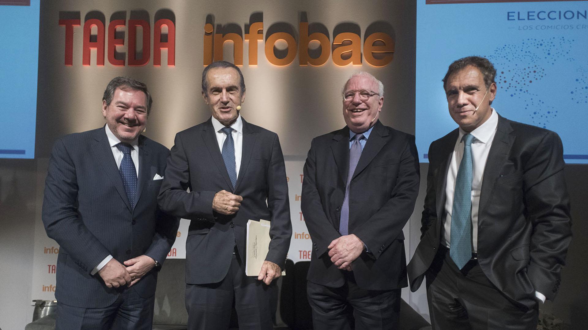 El presidente de la editorial Taeda, Mario Montoto, el periodista Andrés Oppenheimer, el embajador norteamericano Gabriel Guerra Mondragón, y el fundador de Infobae, Daniel Hadad, encabezaron el encuentro.